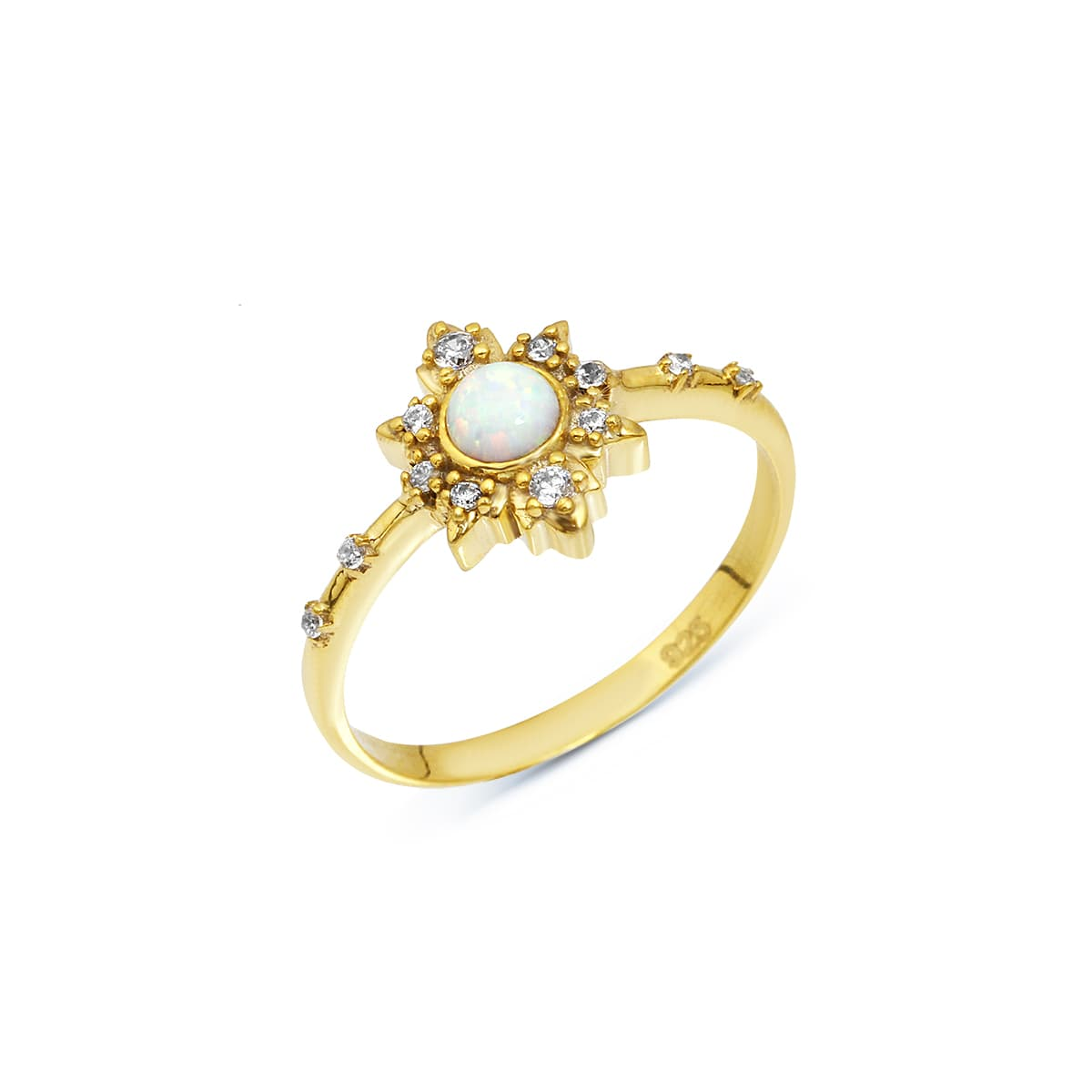 MINI STAR OPAL RING