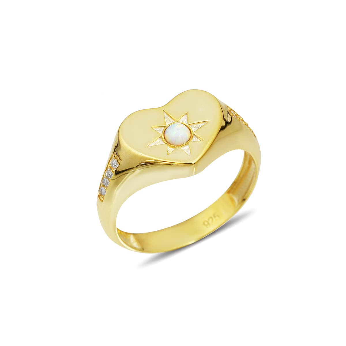 Gold plated stone ring models