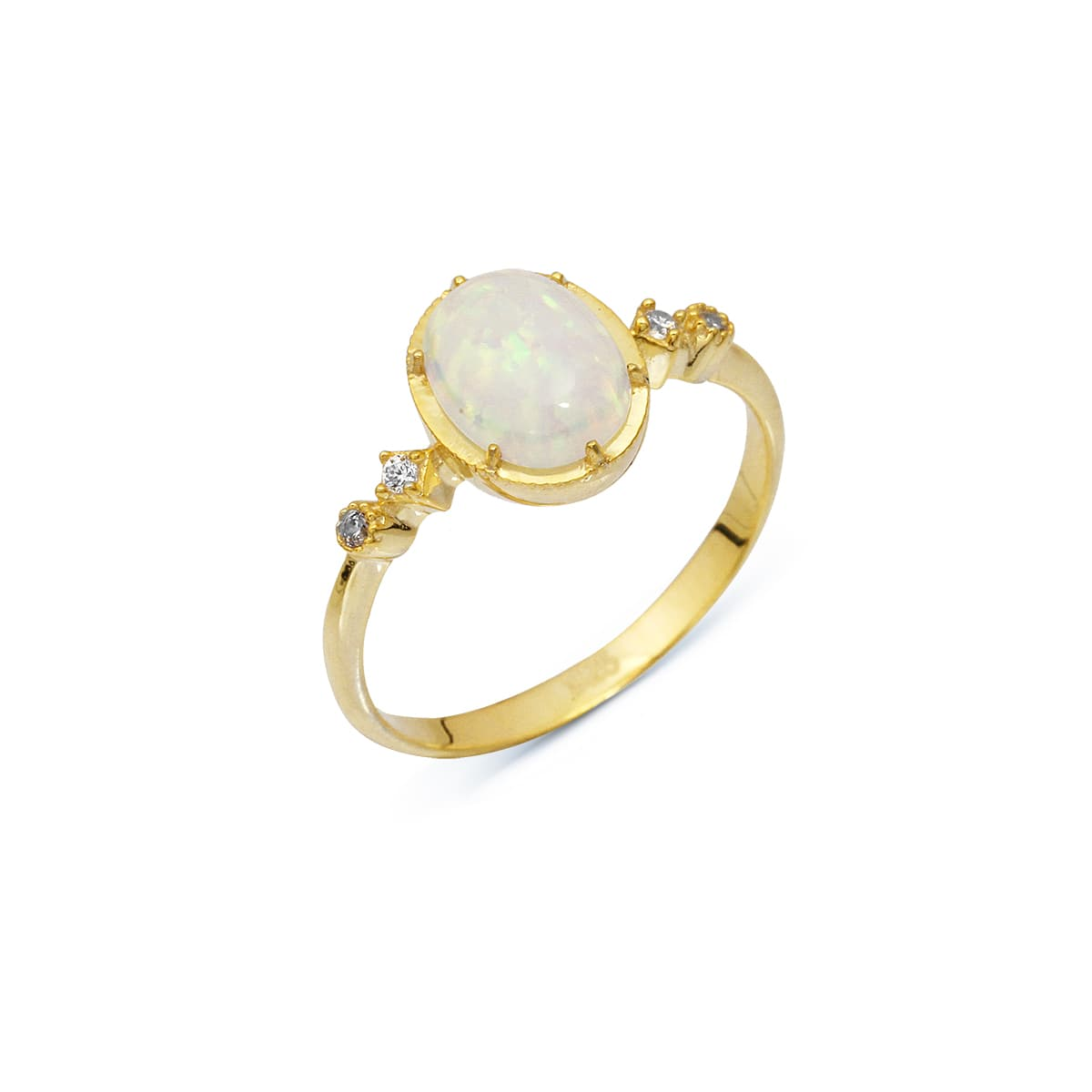 Gold plated silver opal ring models