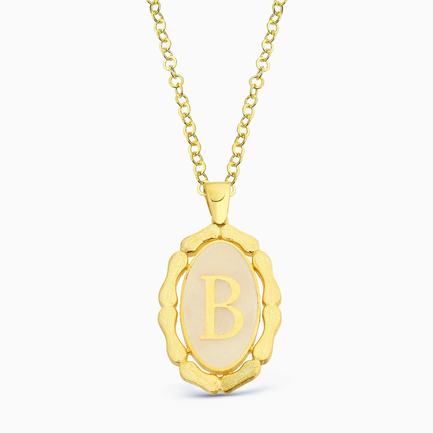 LETTER B MINNED NECKLACE