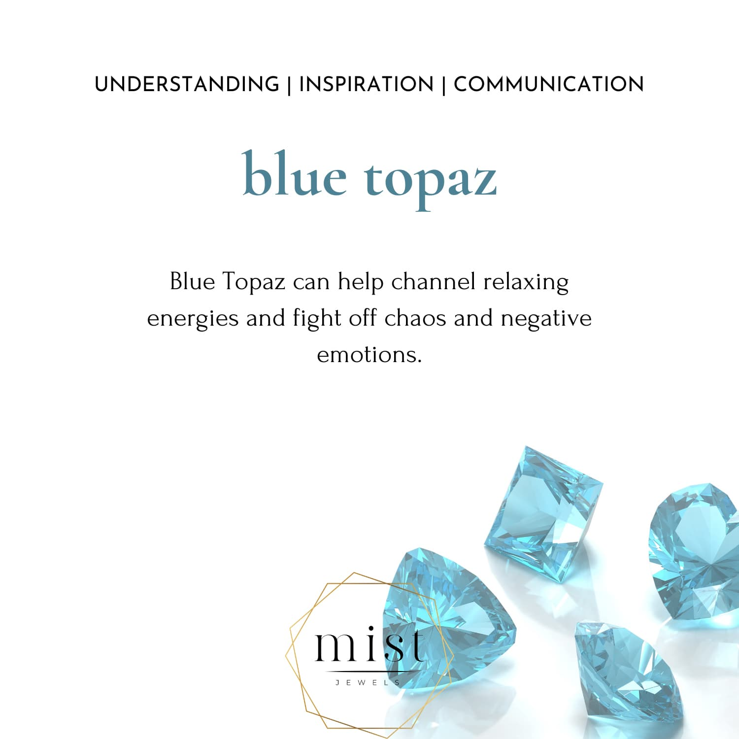 THEA BLUE TOPAZ NATURAL STONE RING