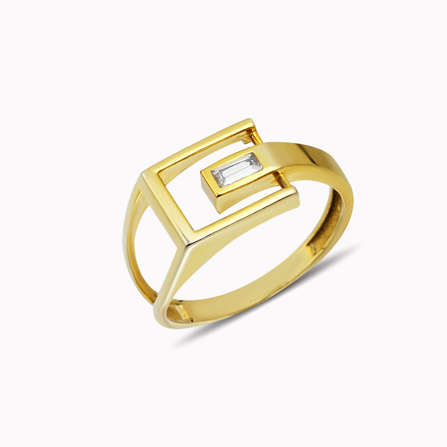 gold plated ring - ring with colored stone