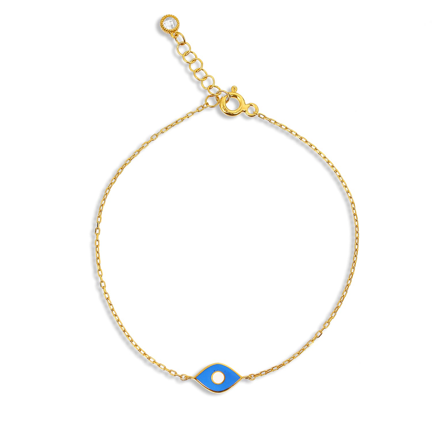 gold plated enamel bracelet
