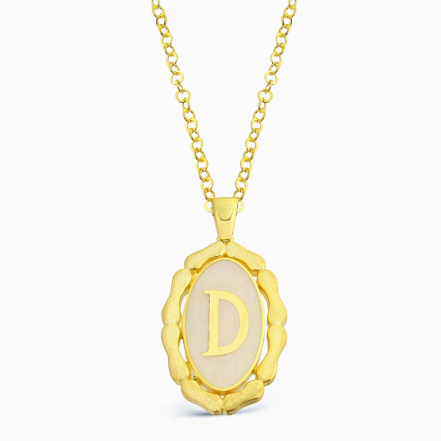 LETTER D MINNED NECKLACE