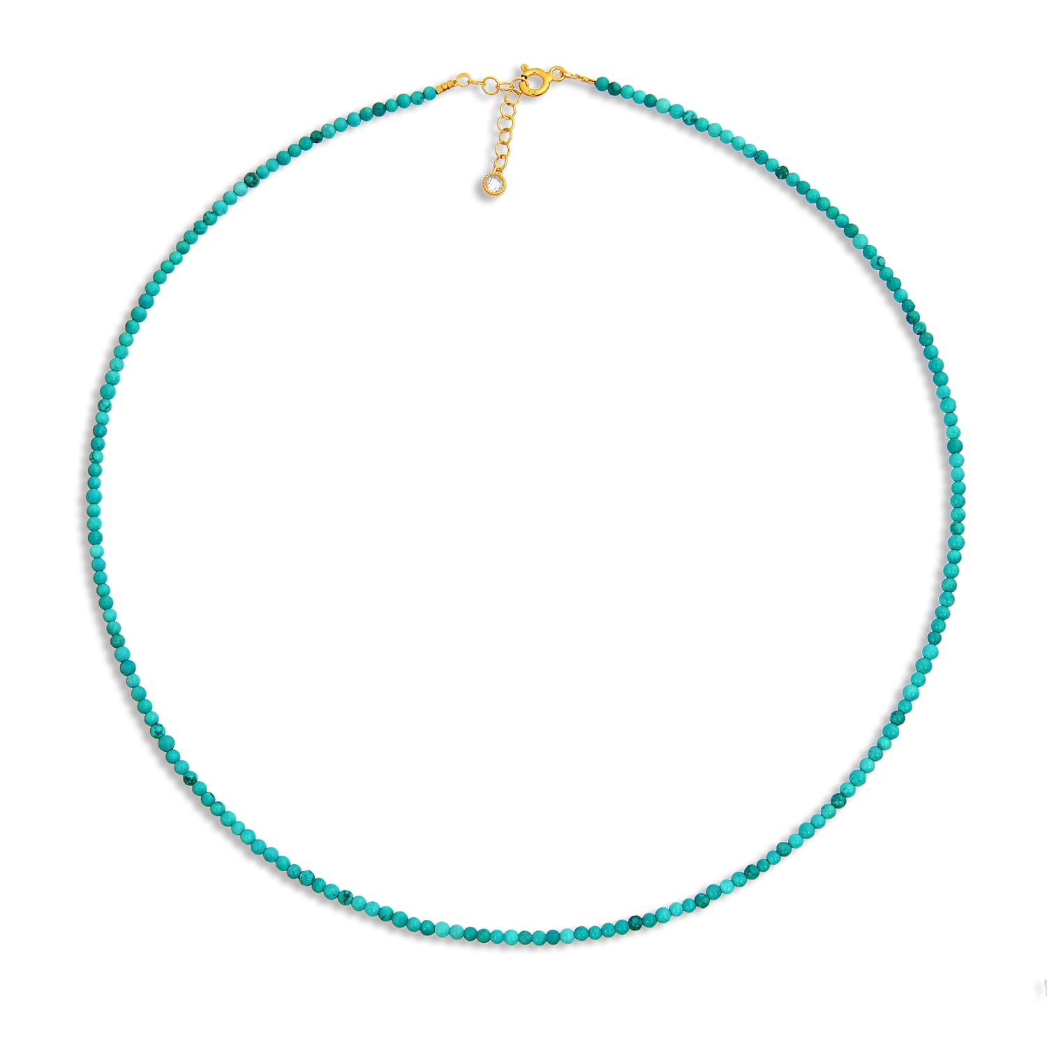NATURAL TURQUOISE STONE SEQUENCE NECKLACE