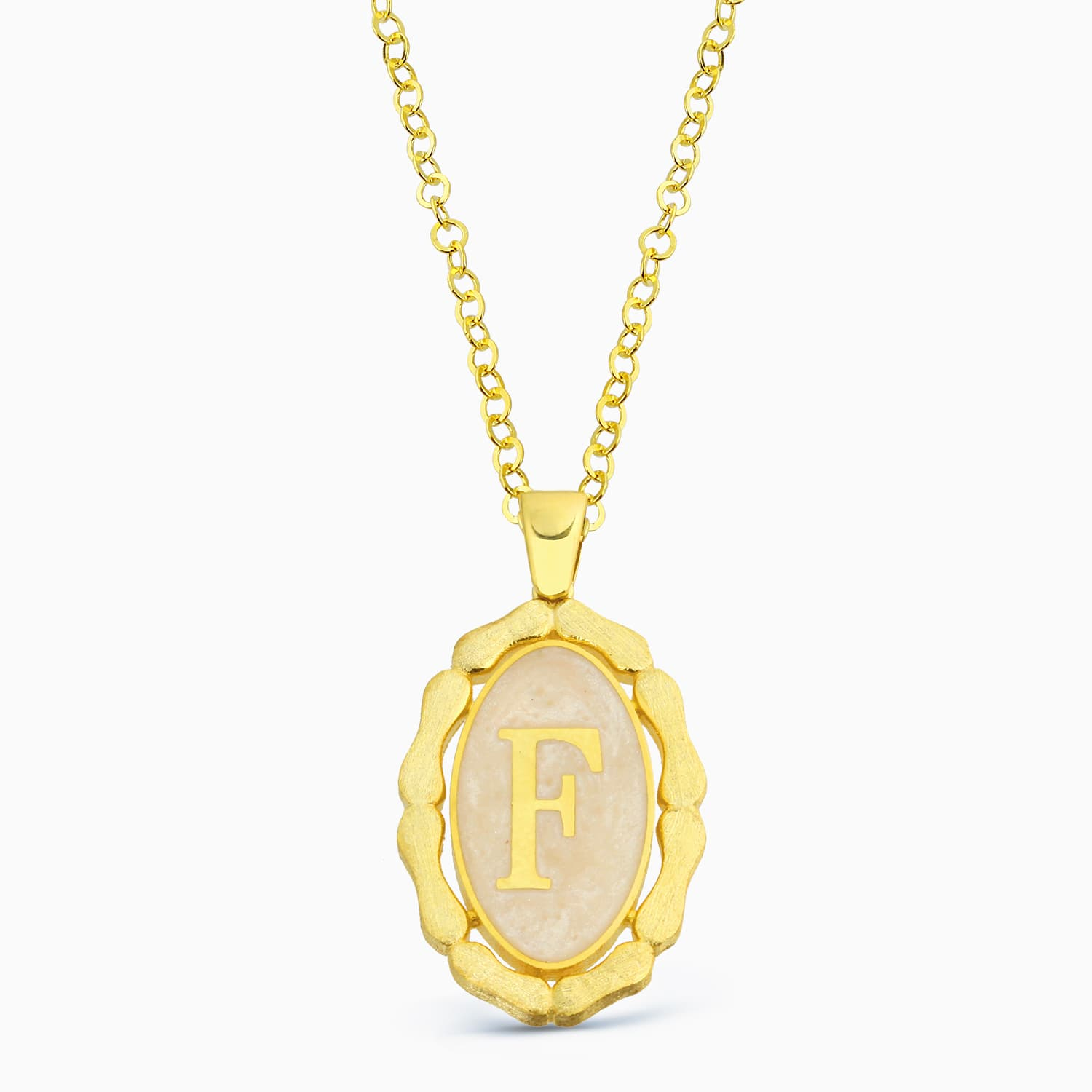 LETTER F MINNED NECKLACE