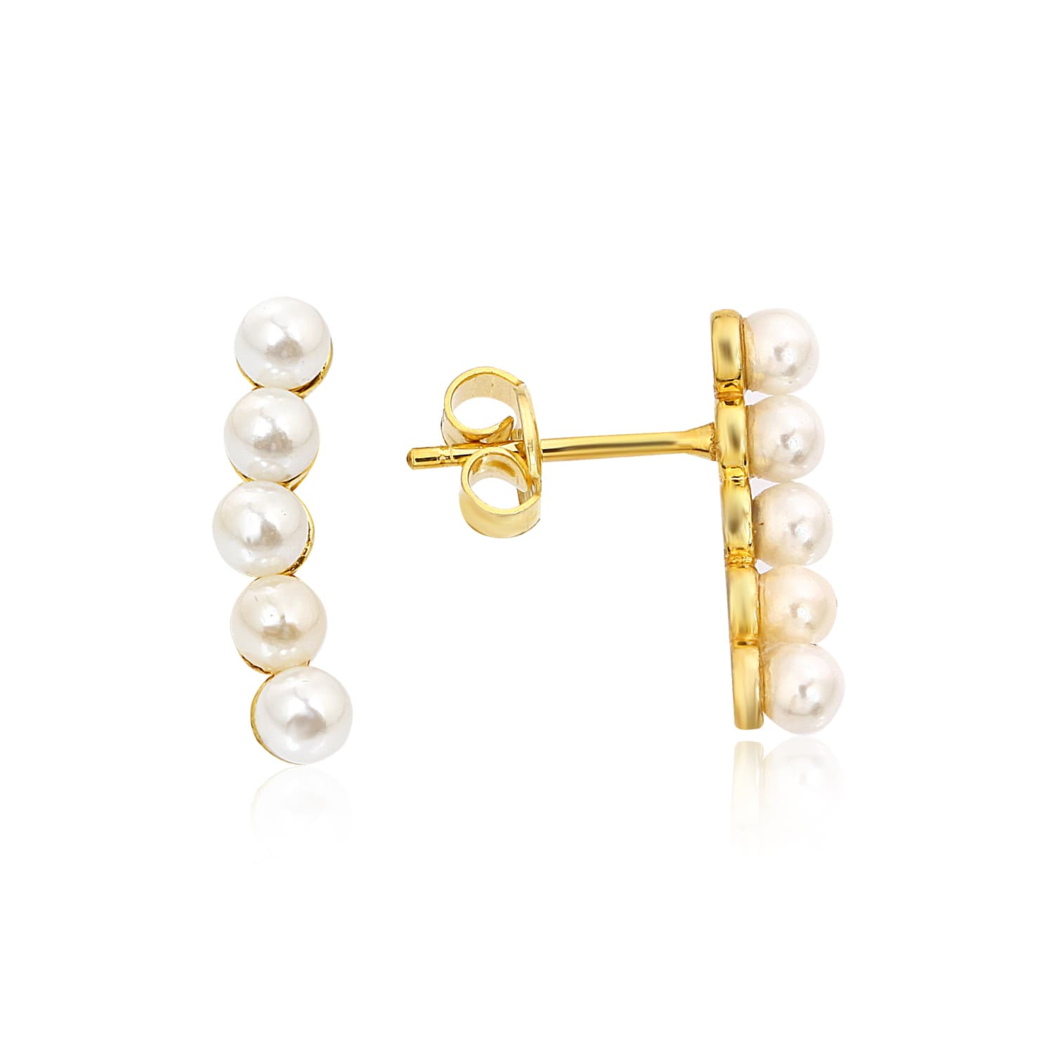 Gold plated pearl earring models