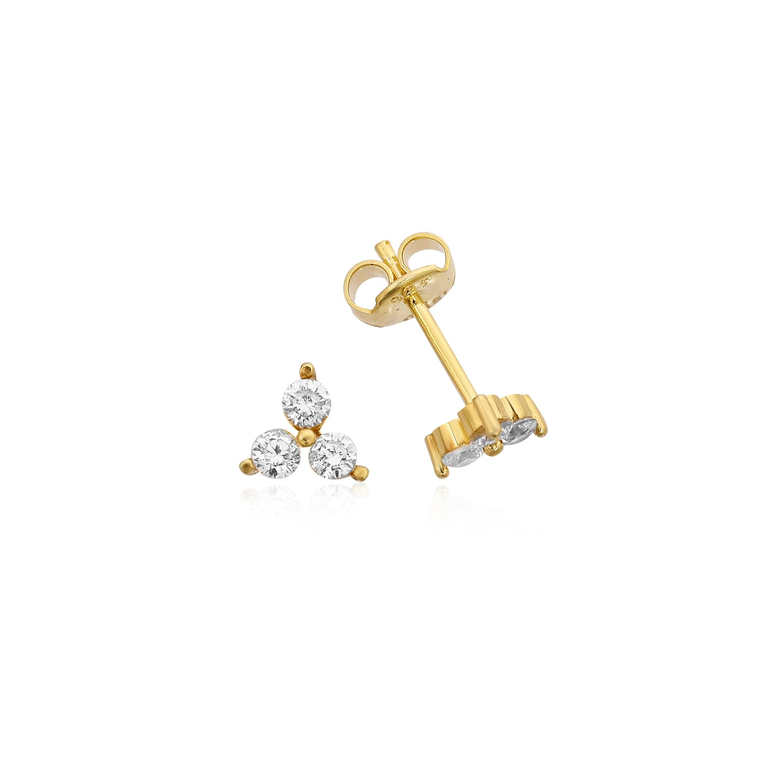 gold plated stud earrings