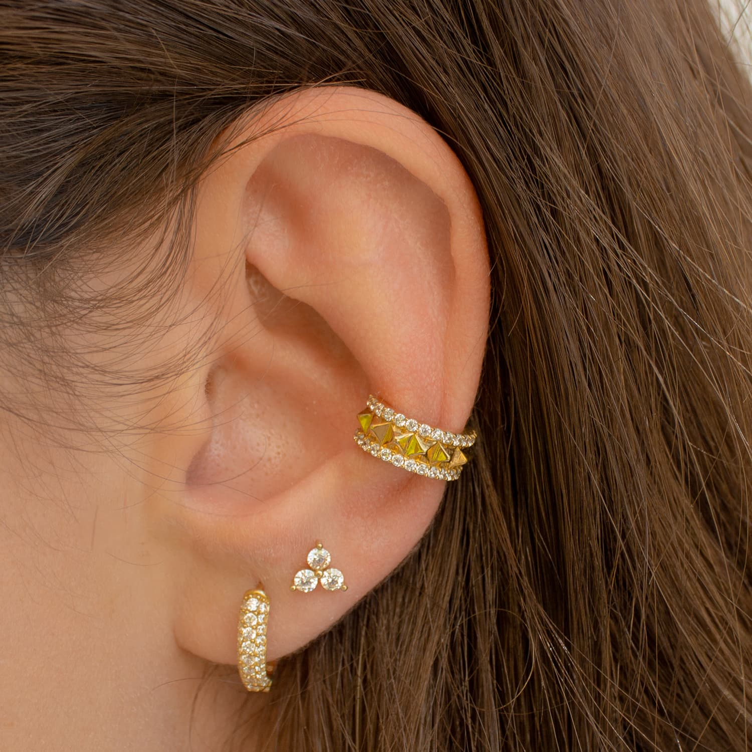 gold plated earcuff