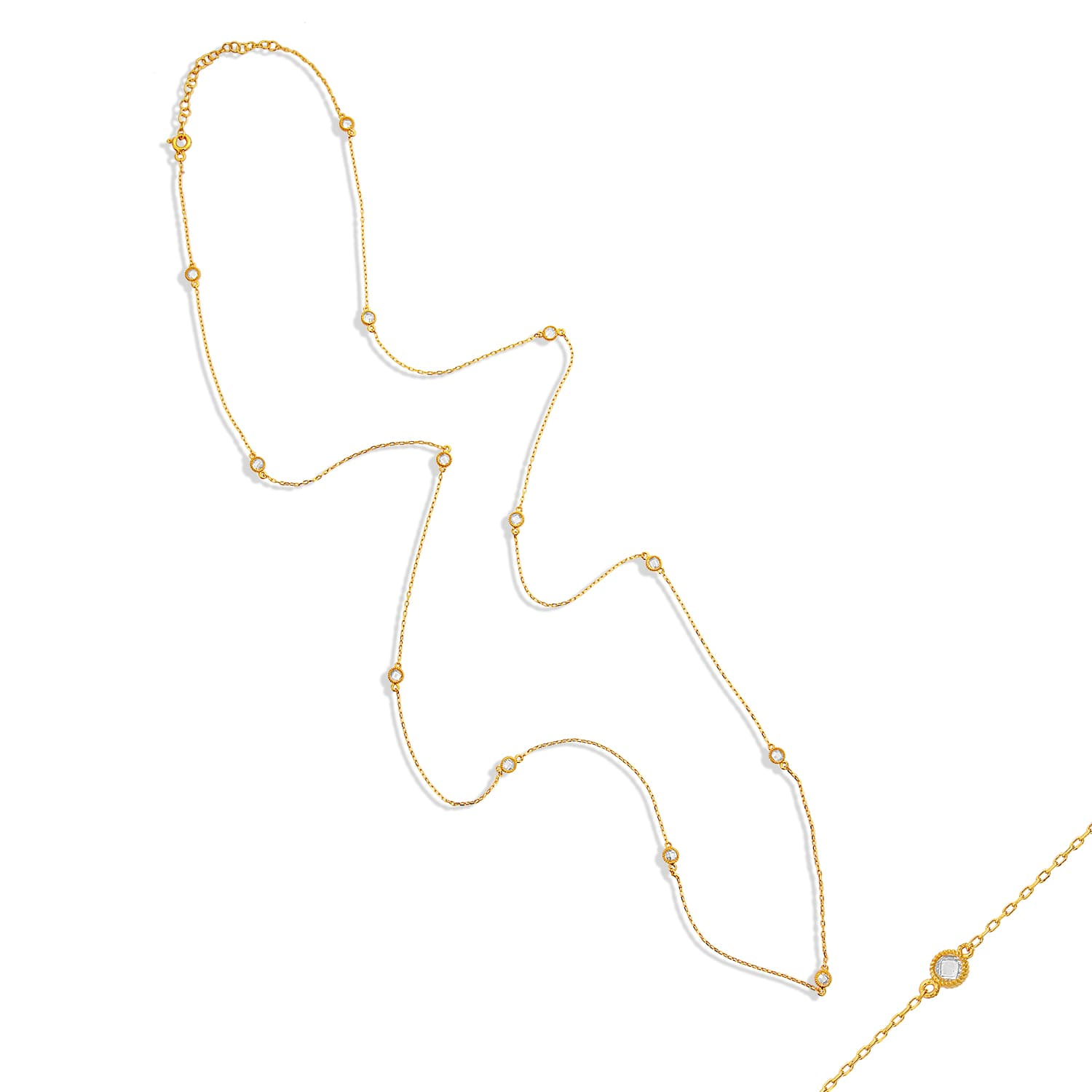 Real gold plated long chain models