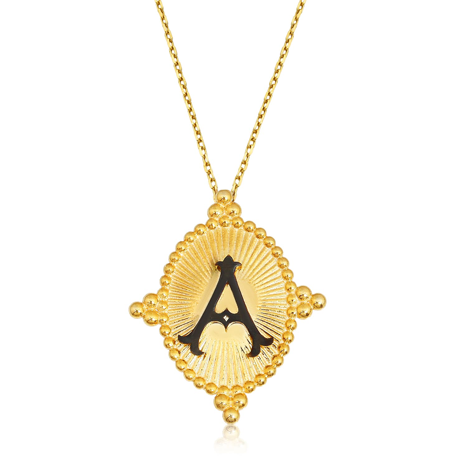 real gold plated letter a necklace