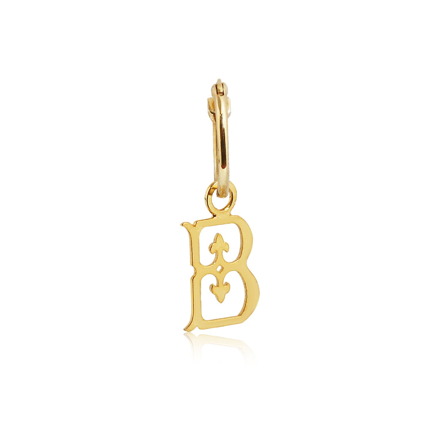 LETTER B VINTAGE EARRINGS