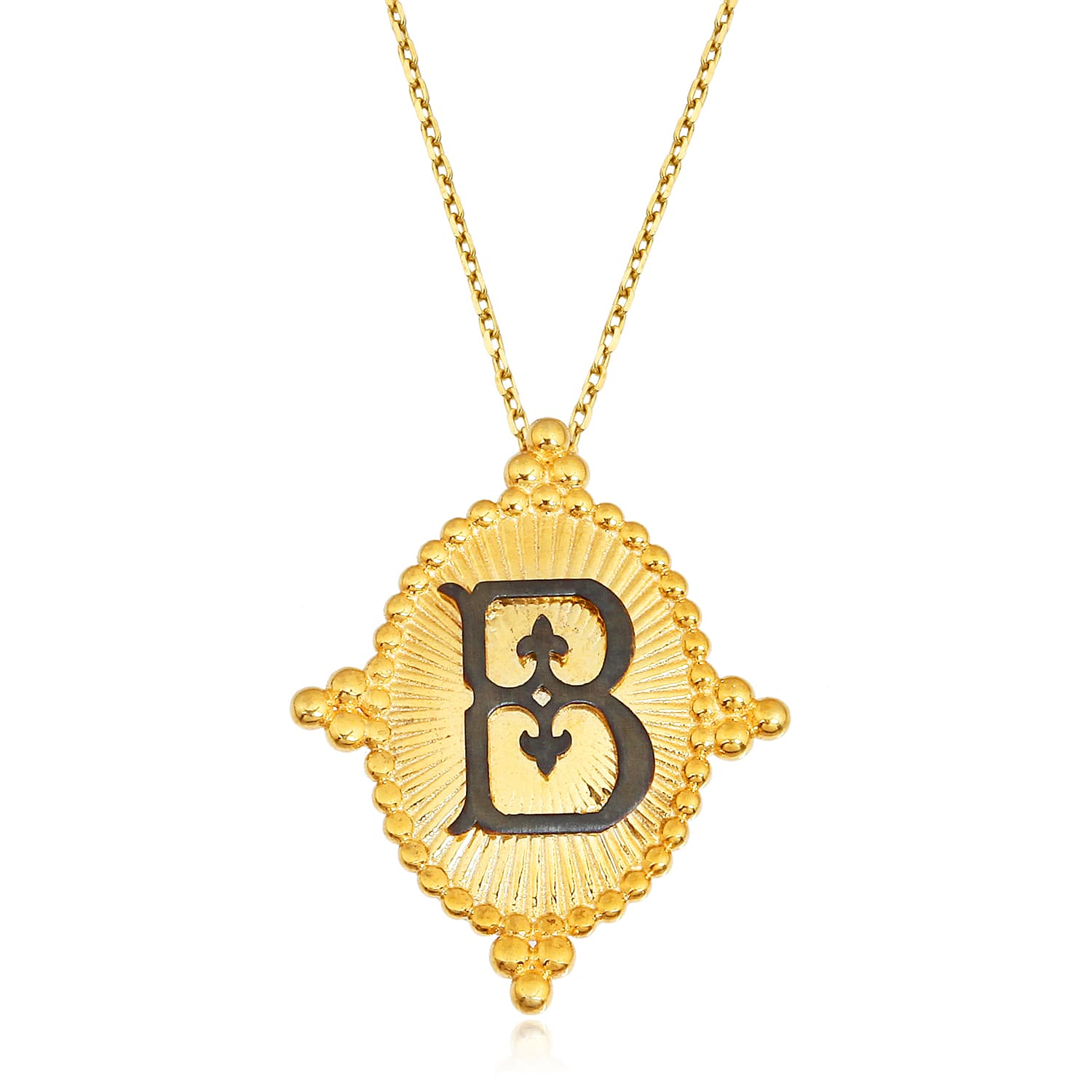 real gold plated letter b necklace