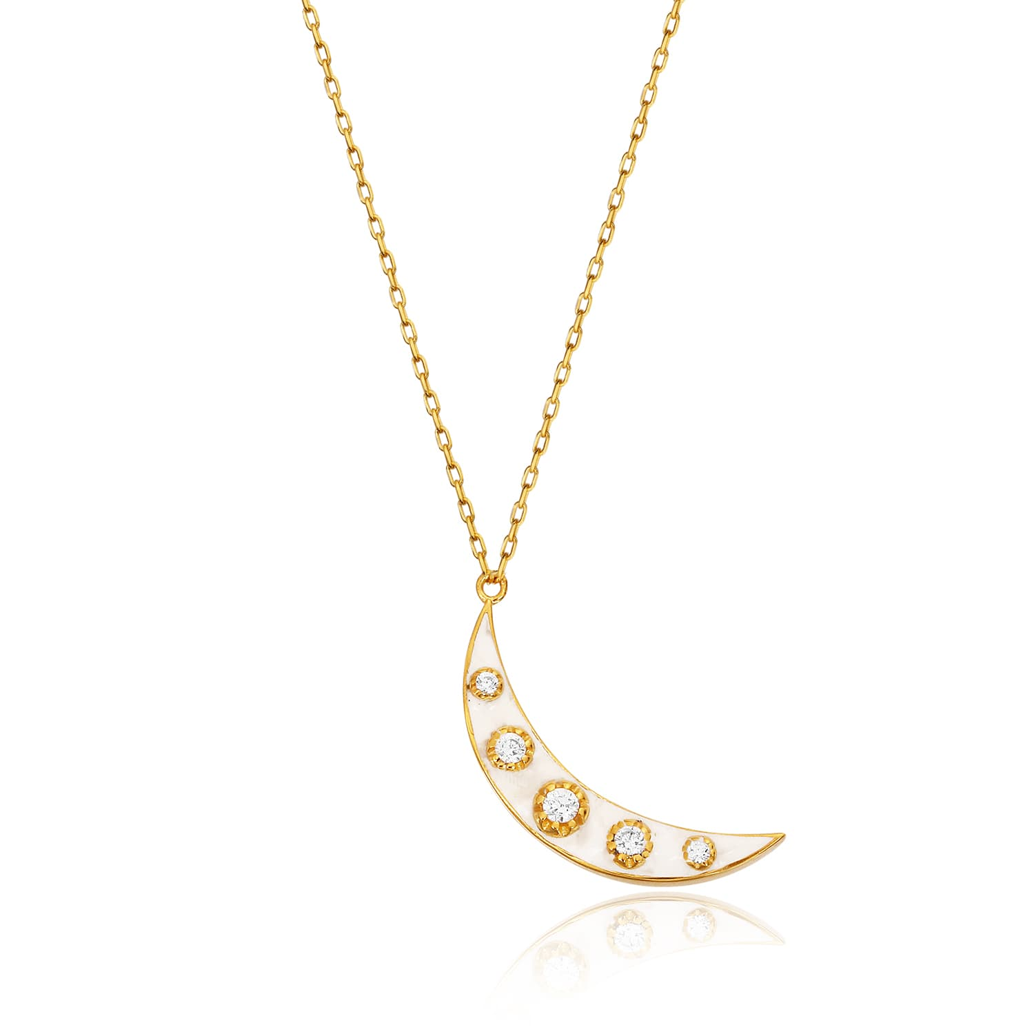 LUNA WHITE MINNED NECKLACE