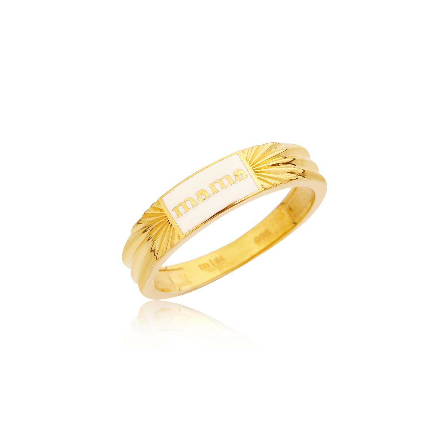 24 carat real gold plated enamel rings on silver
