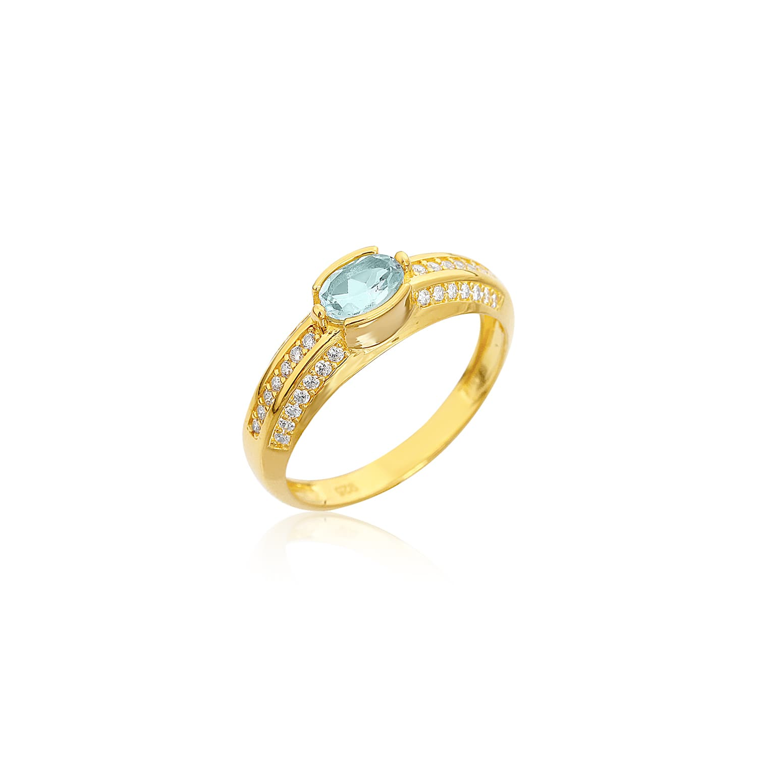 Gold plated natural stone ring models