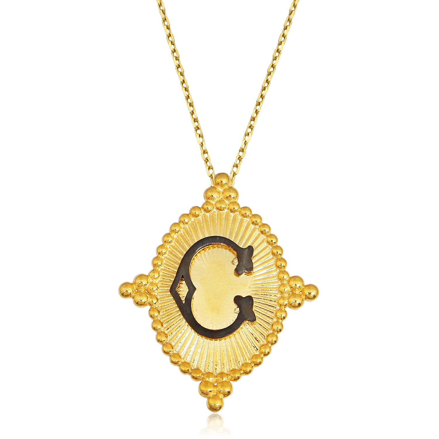 LETTER C VINTAGE NECKLACE