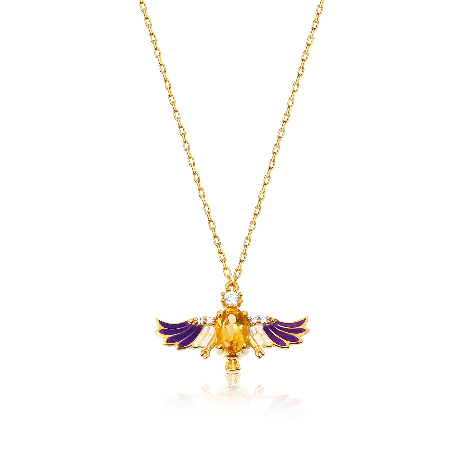 24 carat real gold plated stone necklace models on silver