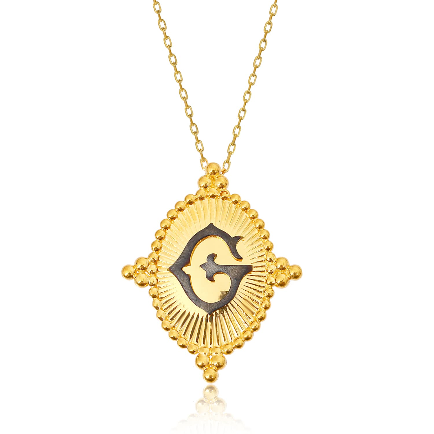 24K gold plated letter G necklace