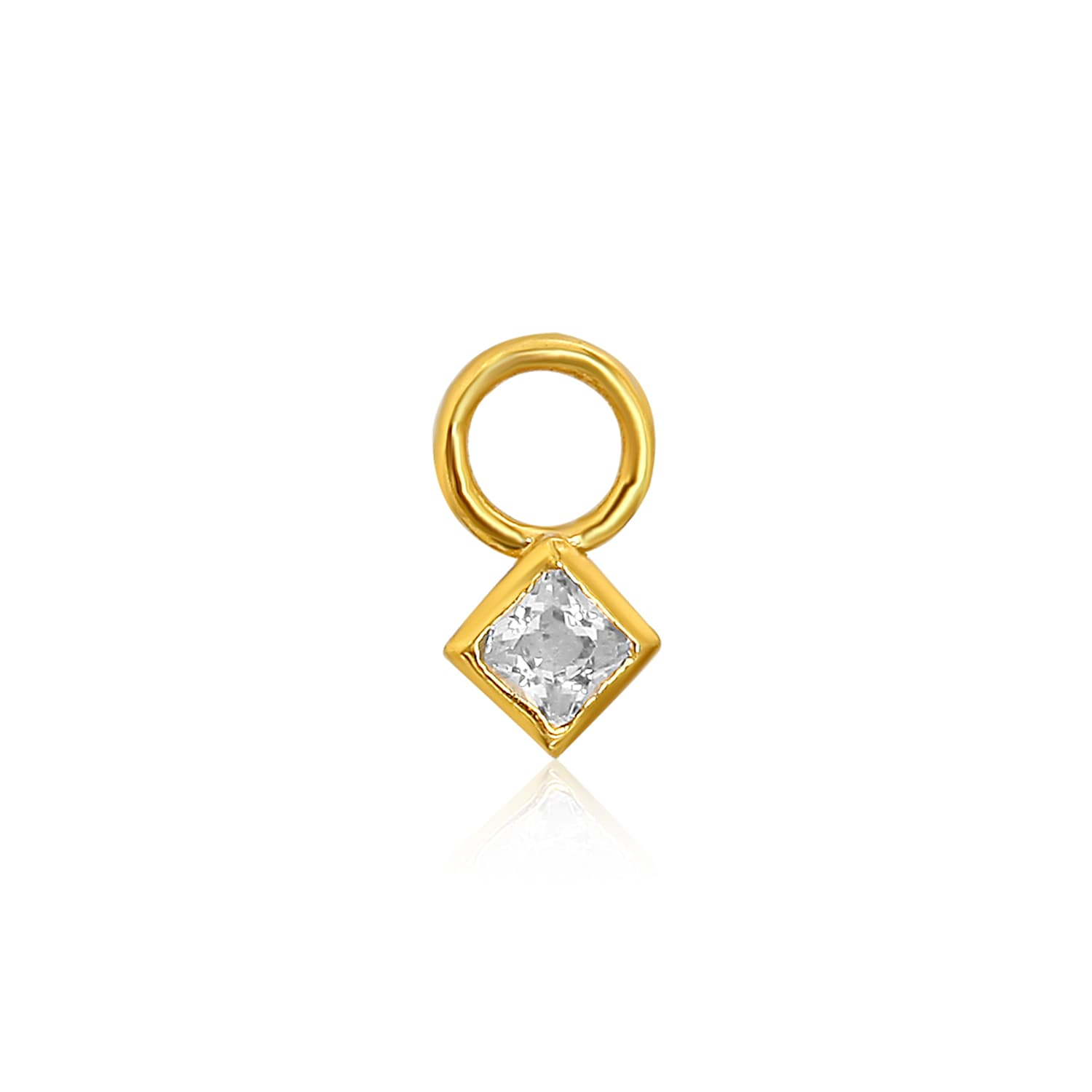 Real gold plated bracelet charms on silver