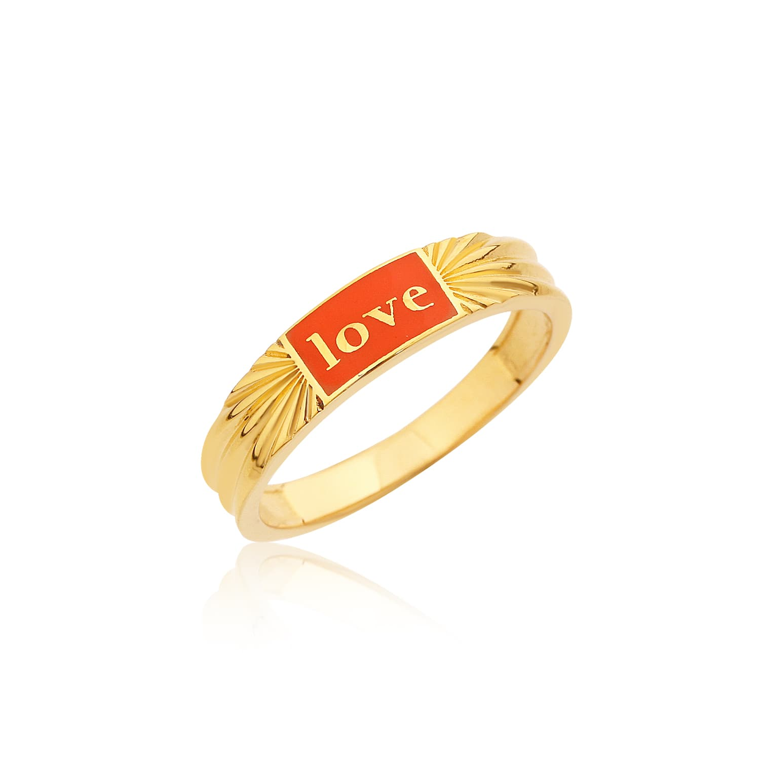 Real gold plated enamel ring models on silver