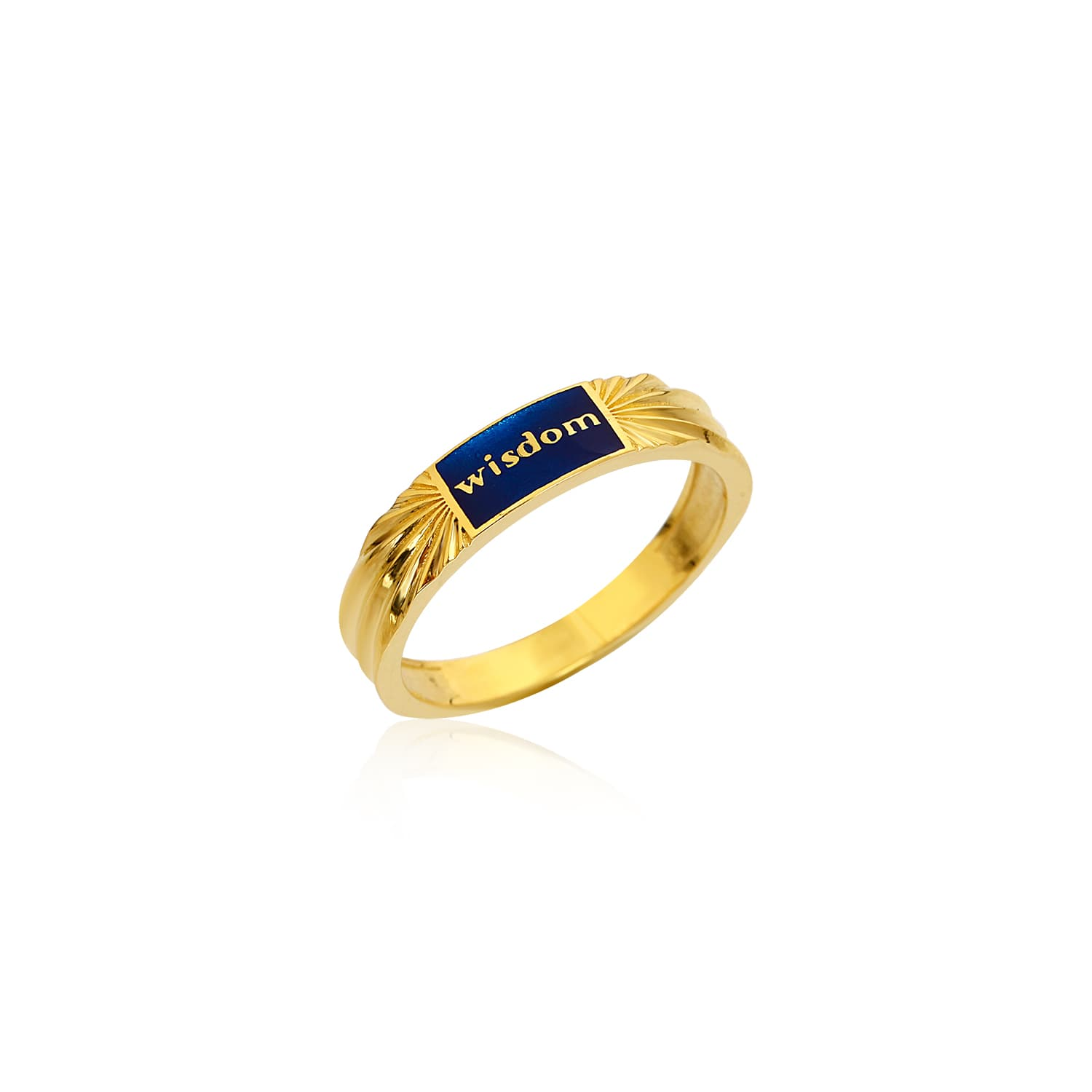 Gold plated enameled silver ring models