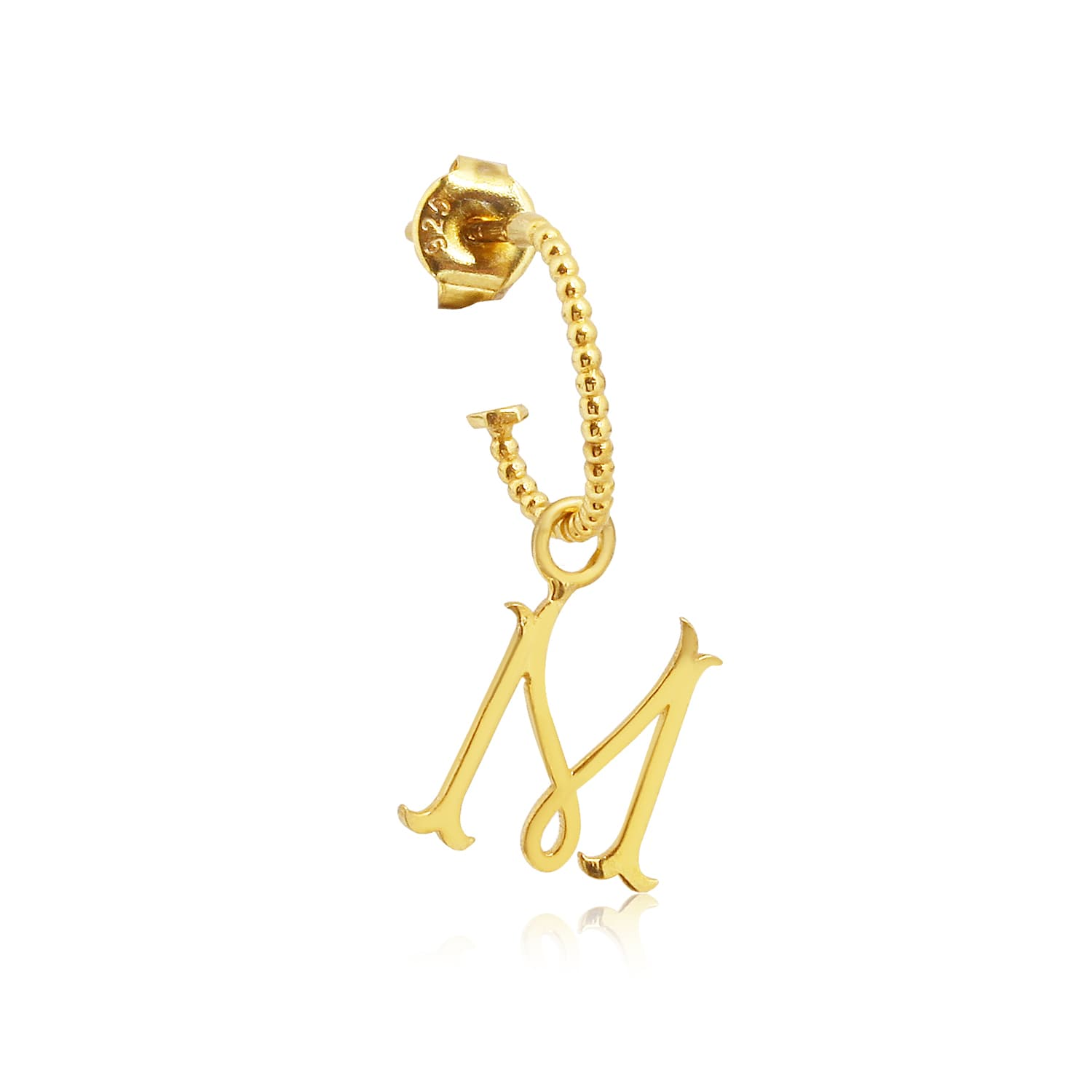 Real gold plated earring models with letters