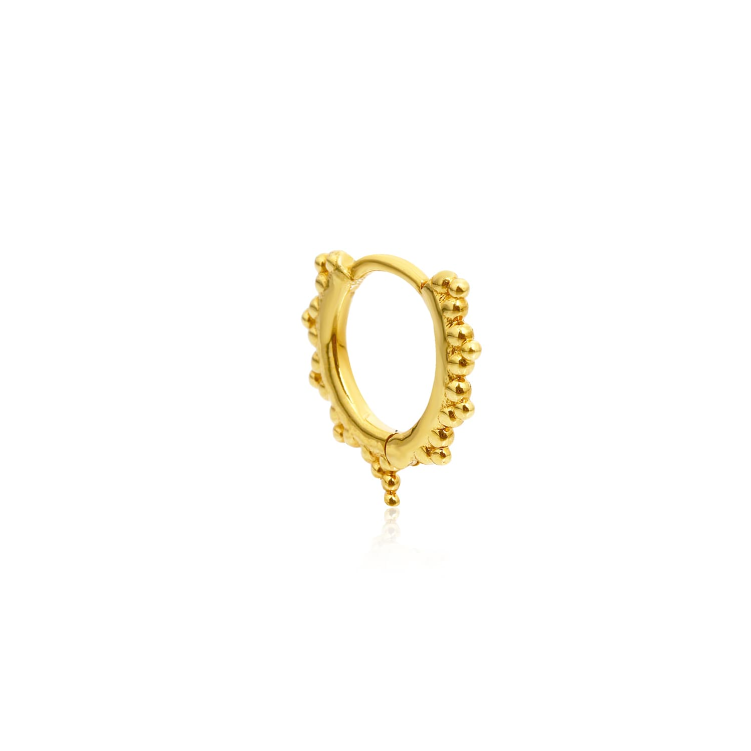 Real gold plated mini earrings on silver