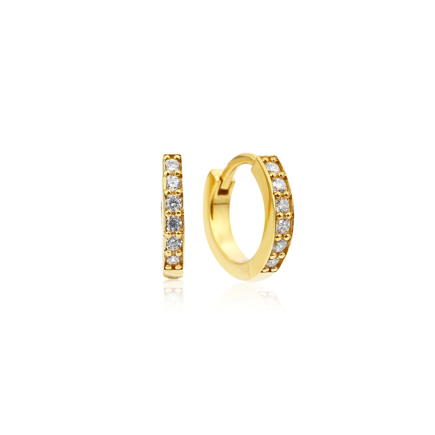 Real gold plated mini hoop earrings models