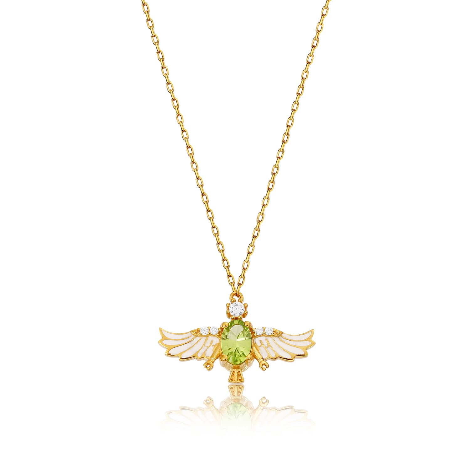 24K real gold plated natural stone necklace models on silver