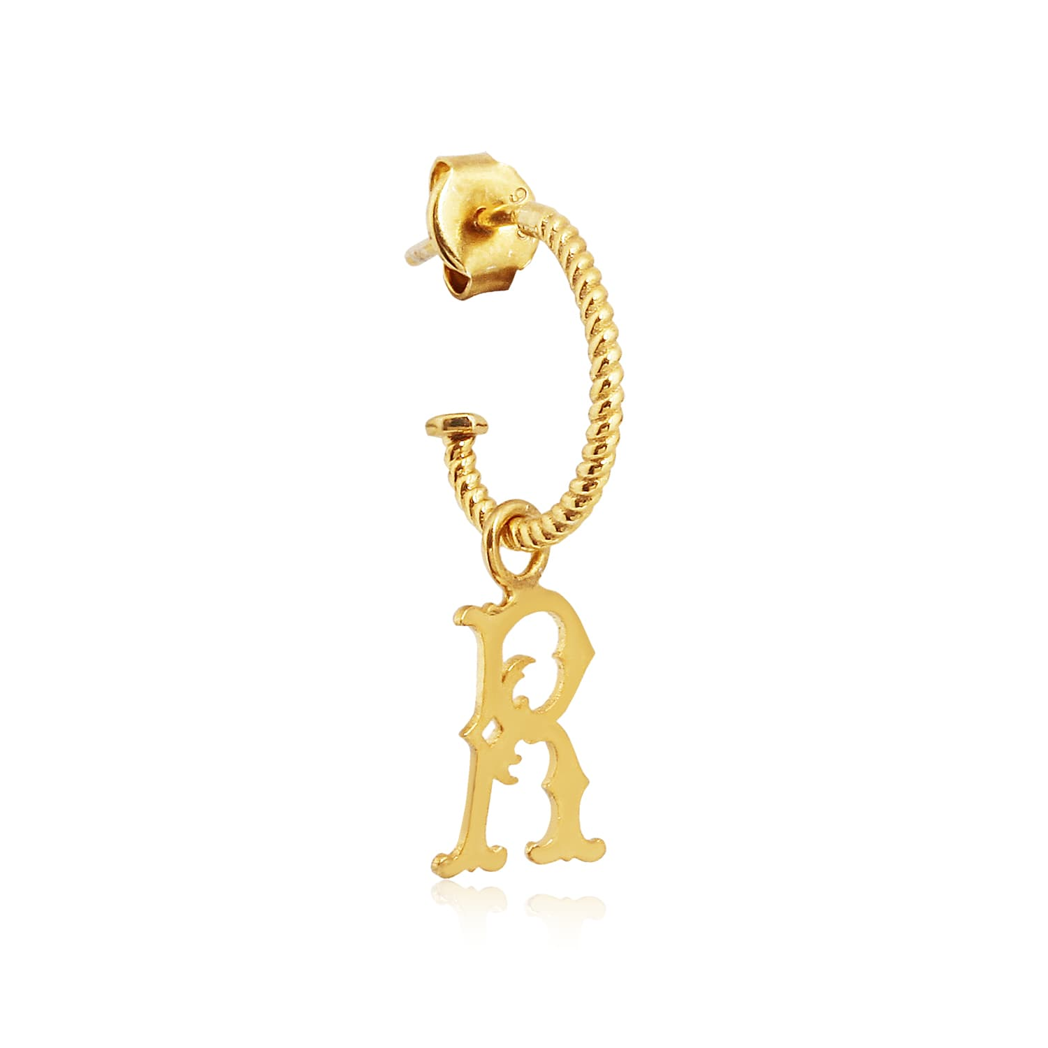 LETTER R VINTAGE EARRINGS
