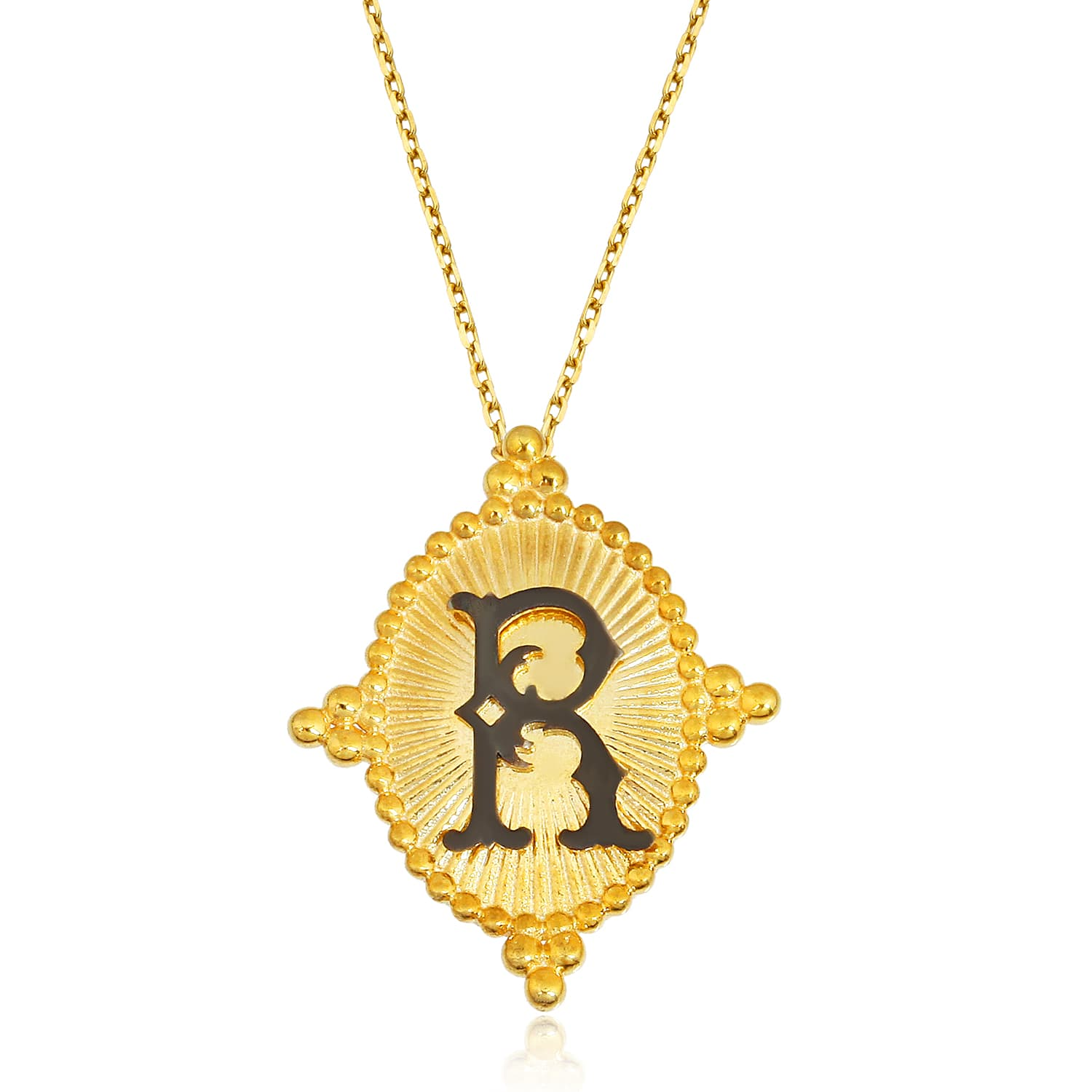 LETTER R VINTAGE NECKLACE