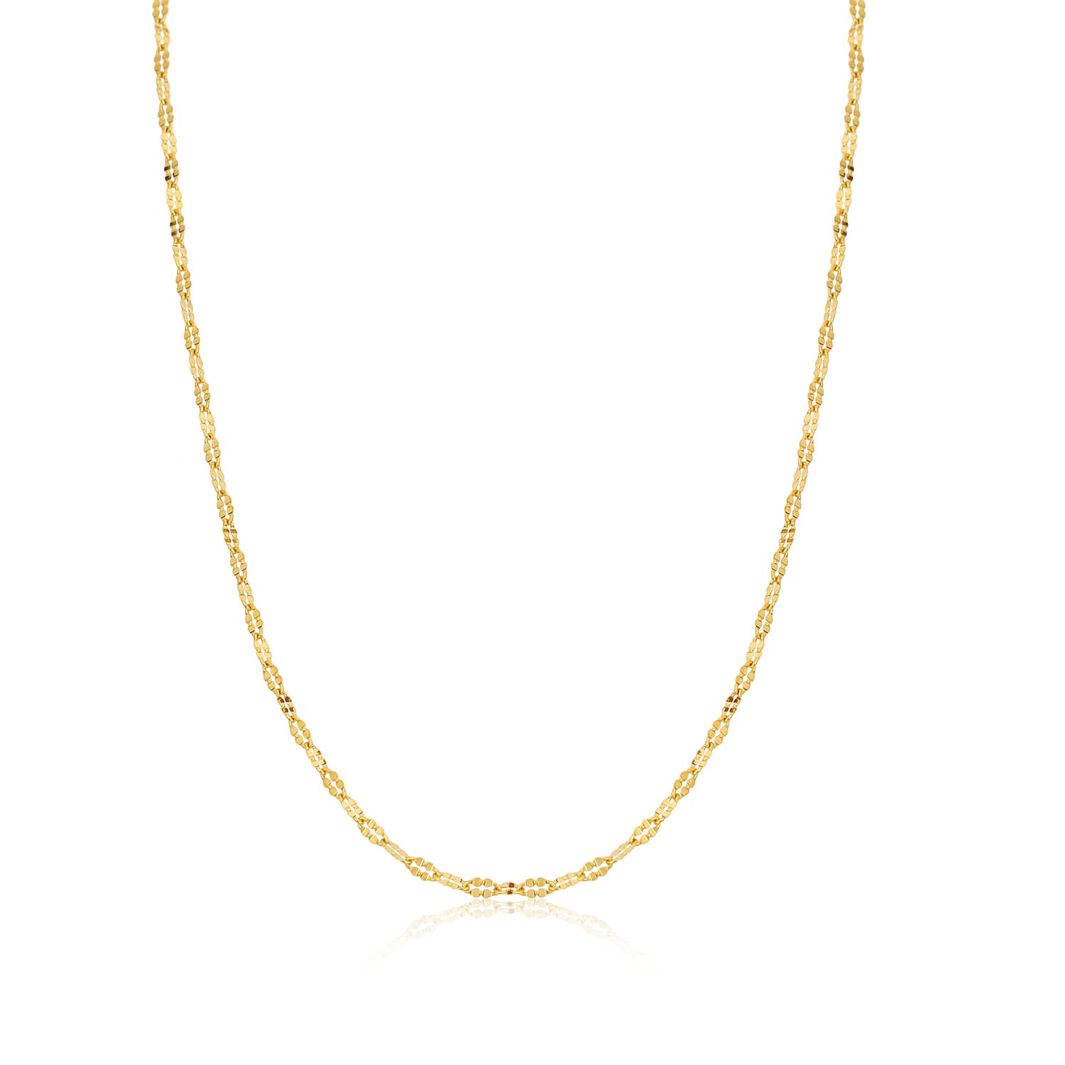 24K real gold chain models on silver