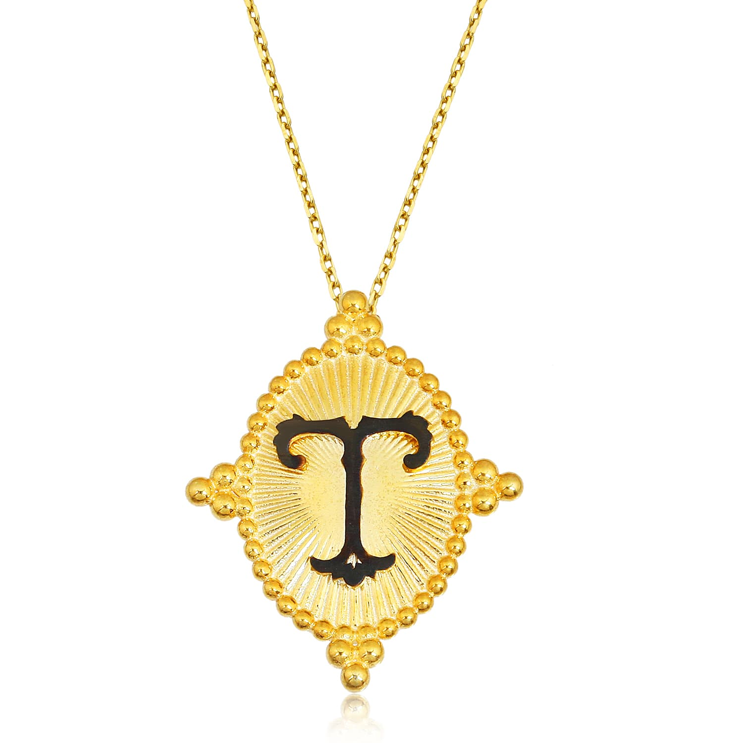 gold plated letter necklace