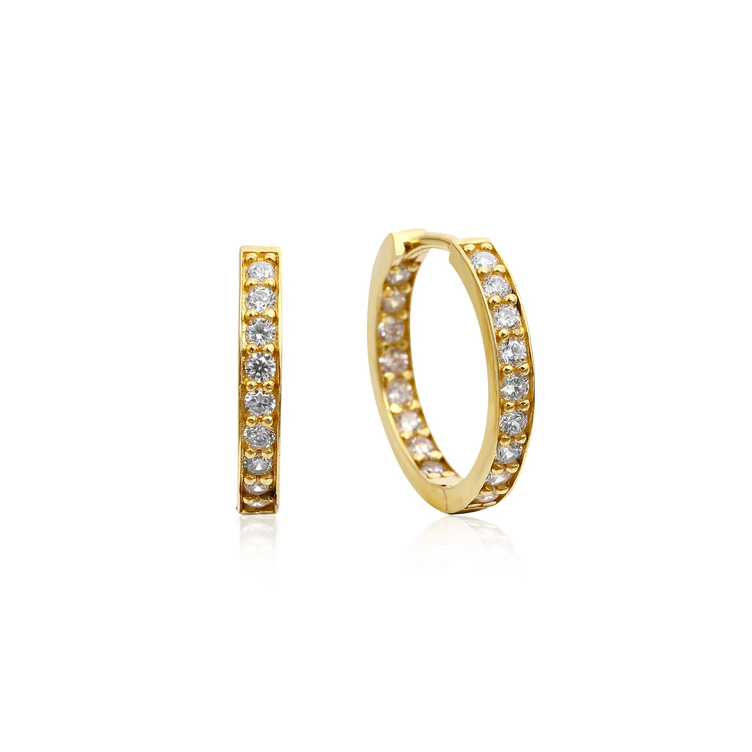 MIDI DOUBLE SIDED STONE RING EARRING 12.5MM