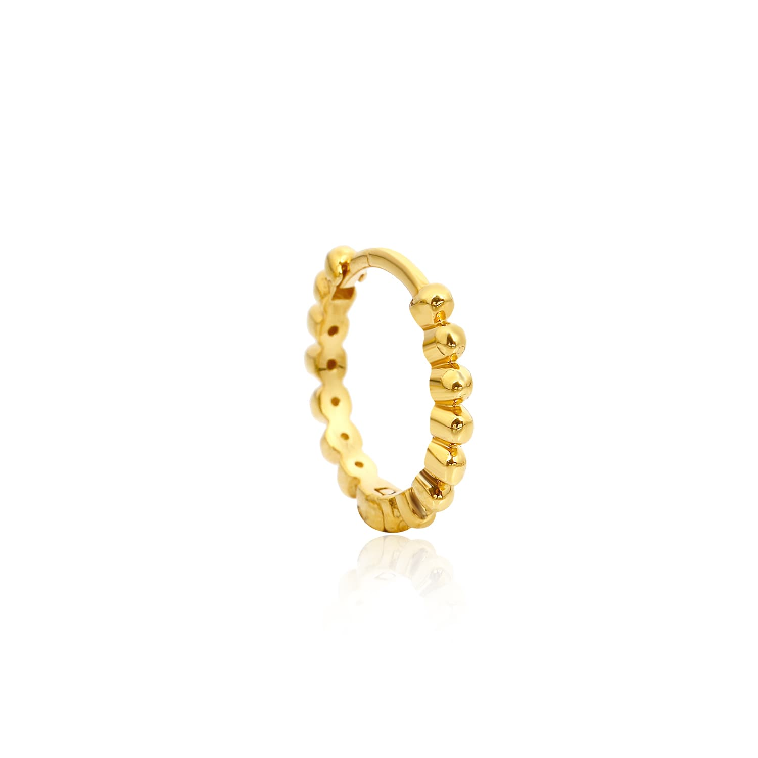 Gold plated toptop hoop earrings