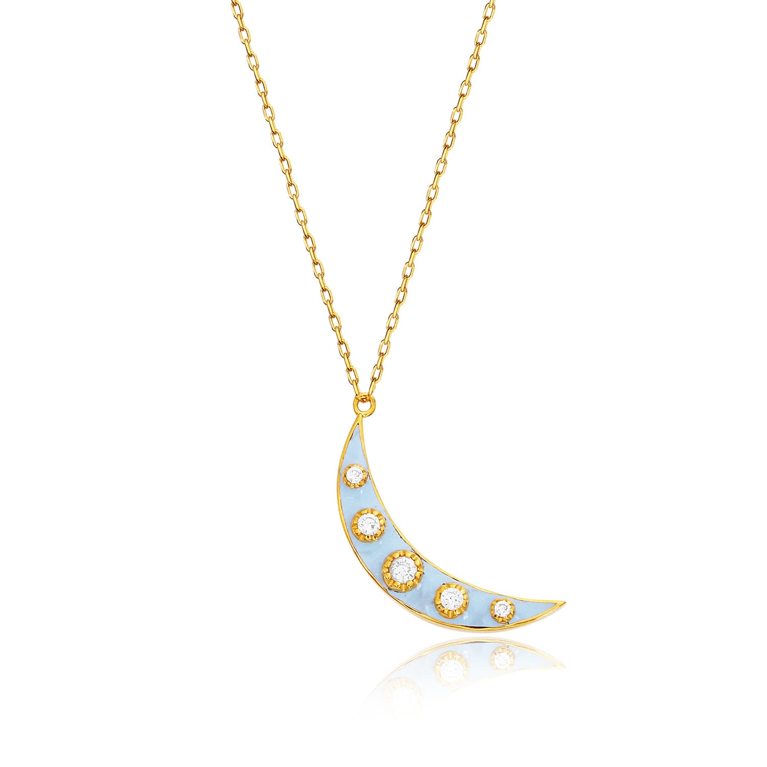 Real gold plated enamel necklace models in silver
