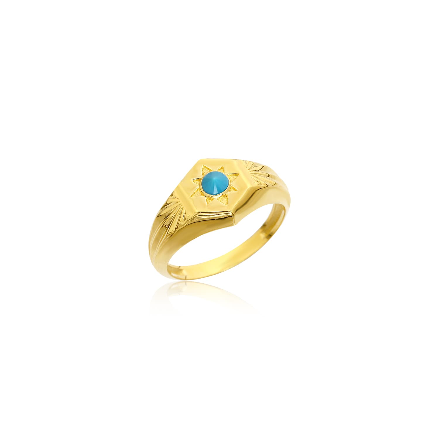 Gold plated turquoise stone ring models