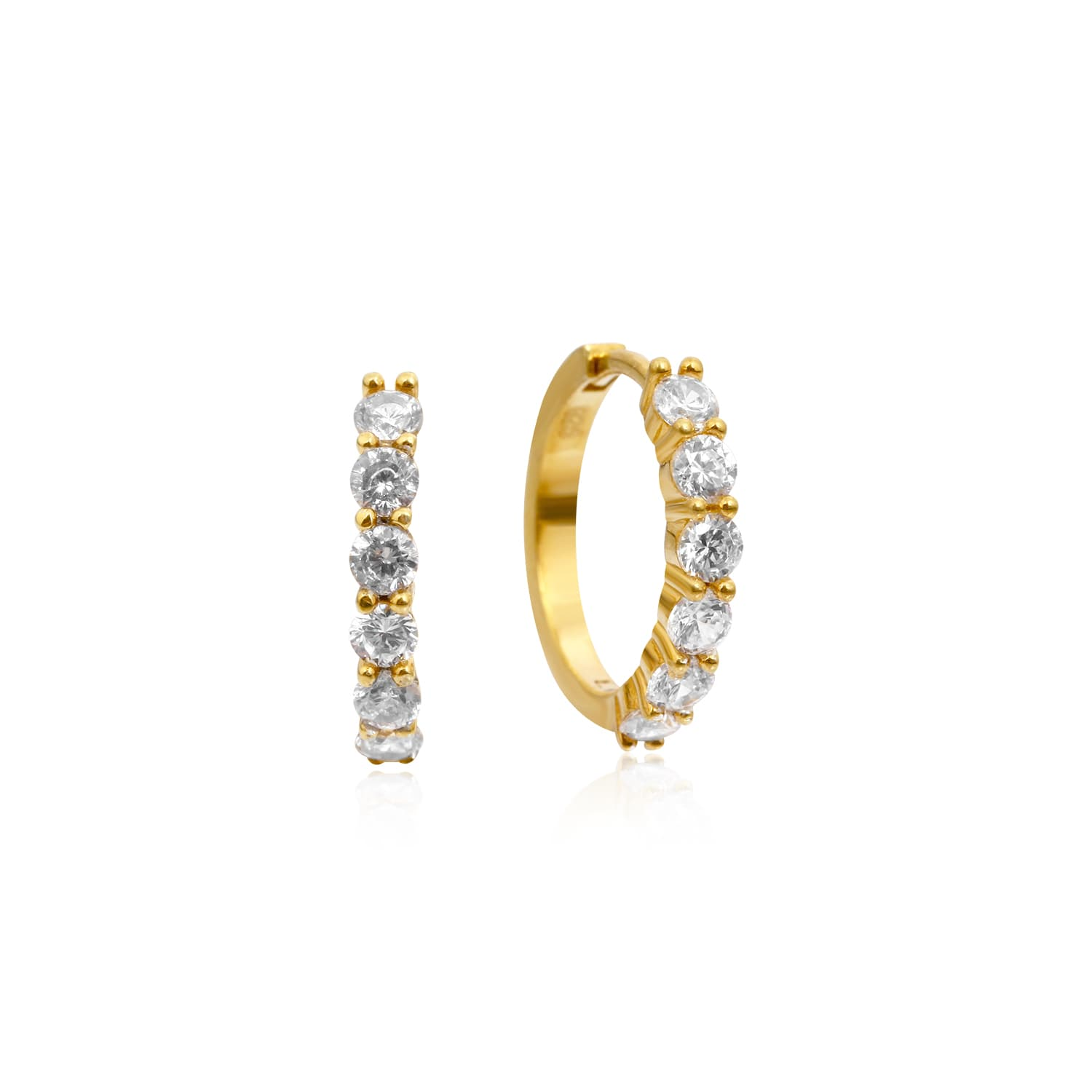 BOLD MAXI PAVE RING EARRINGS