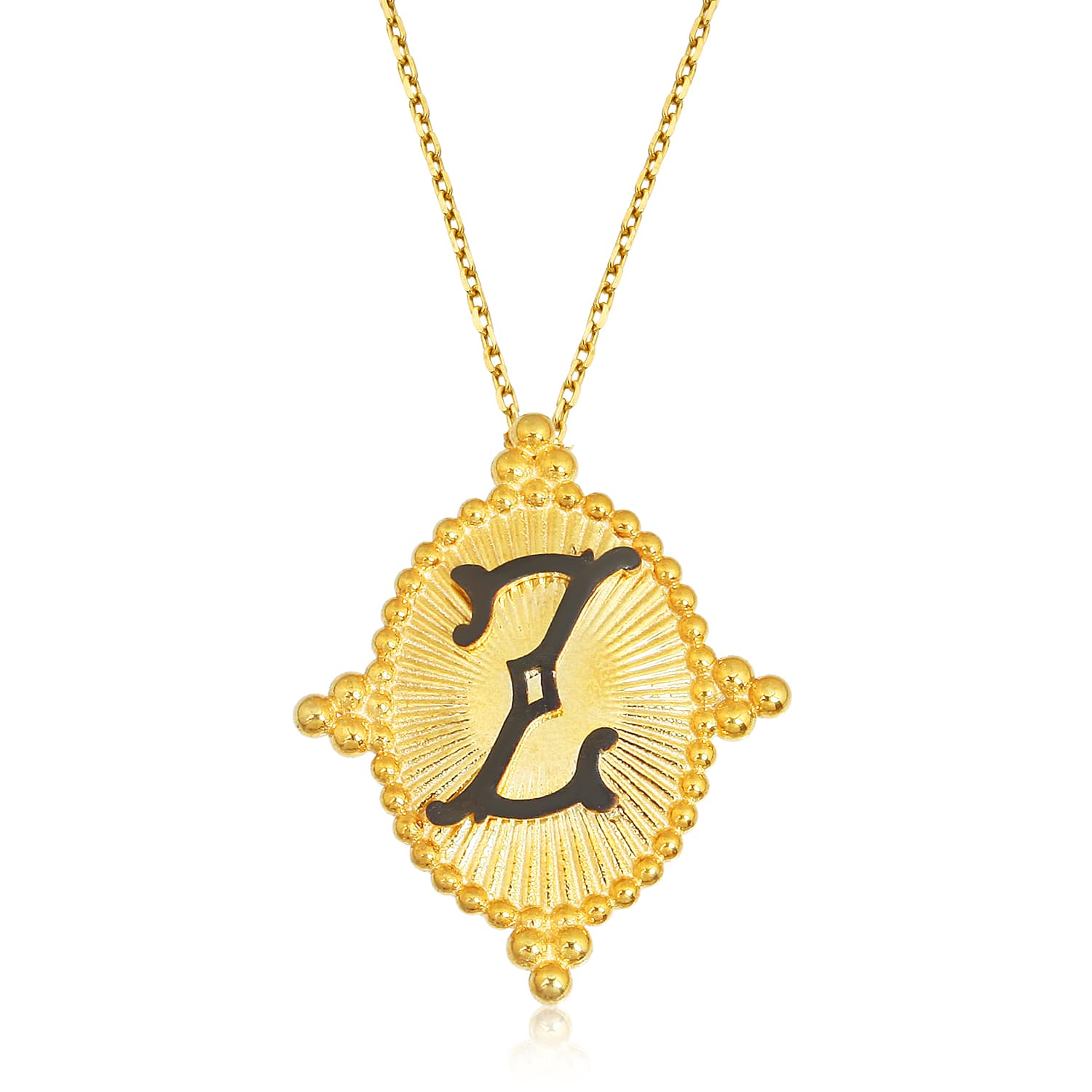 Sterling silver real gold plated letter necklace models