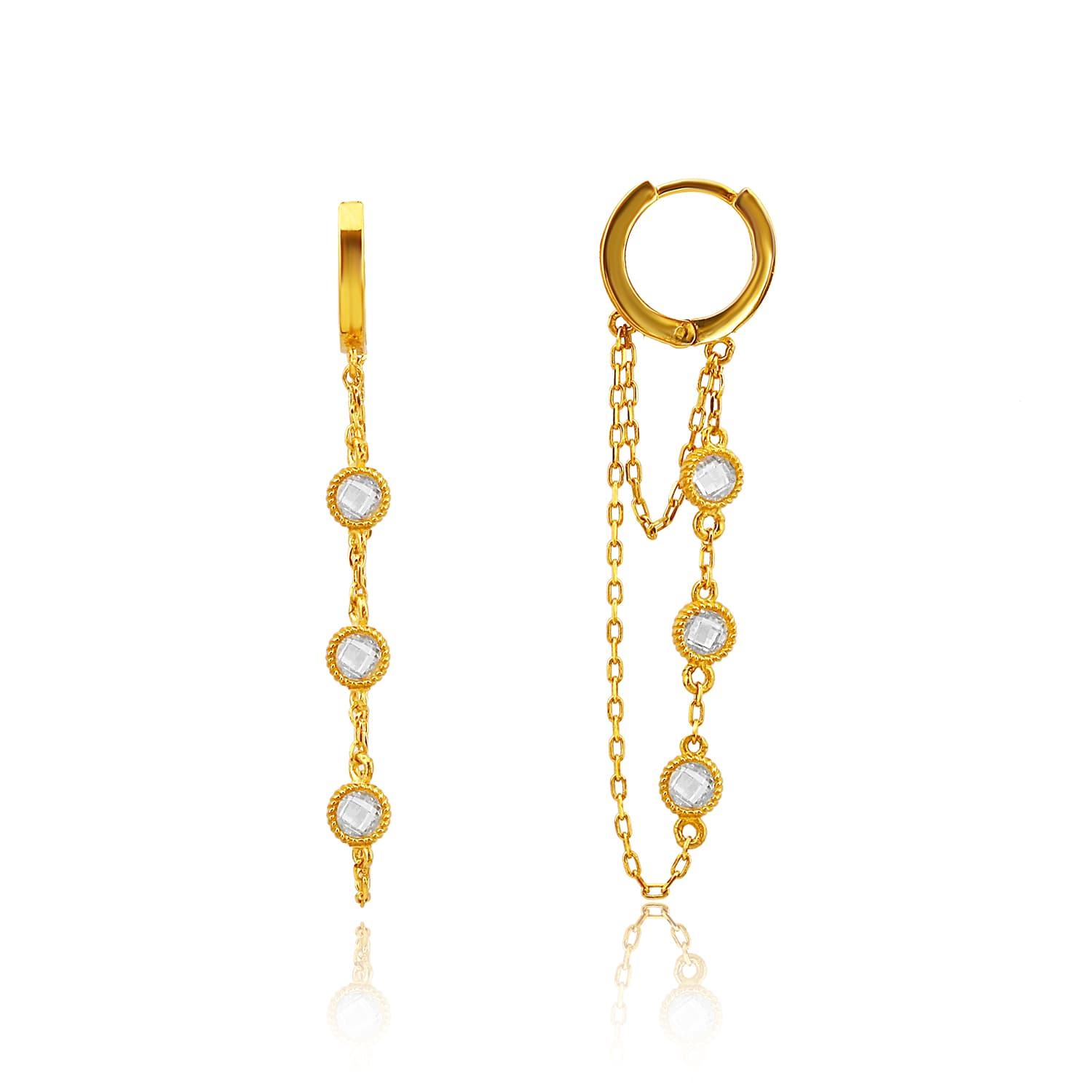 Gold plated hoop earrings models