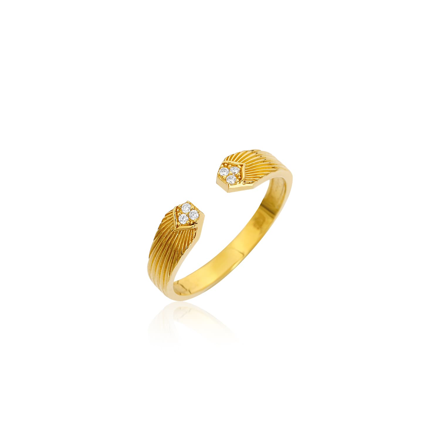 gold plated stone ring