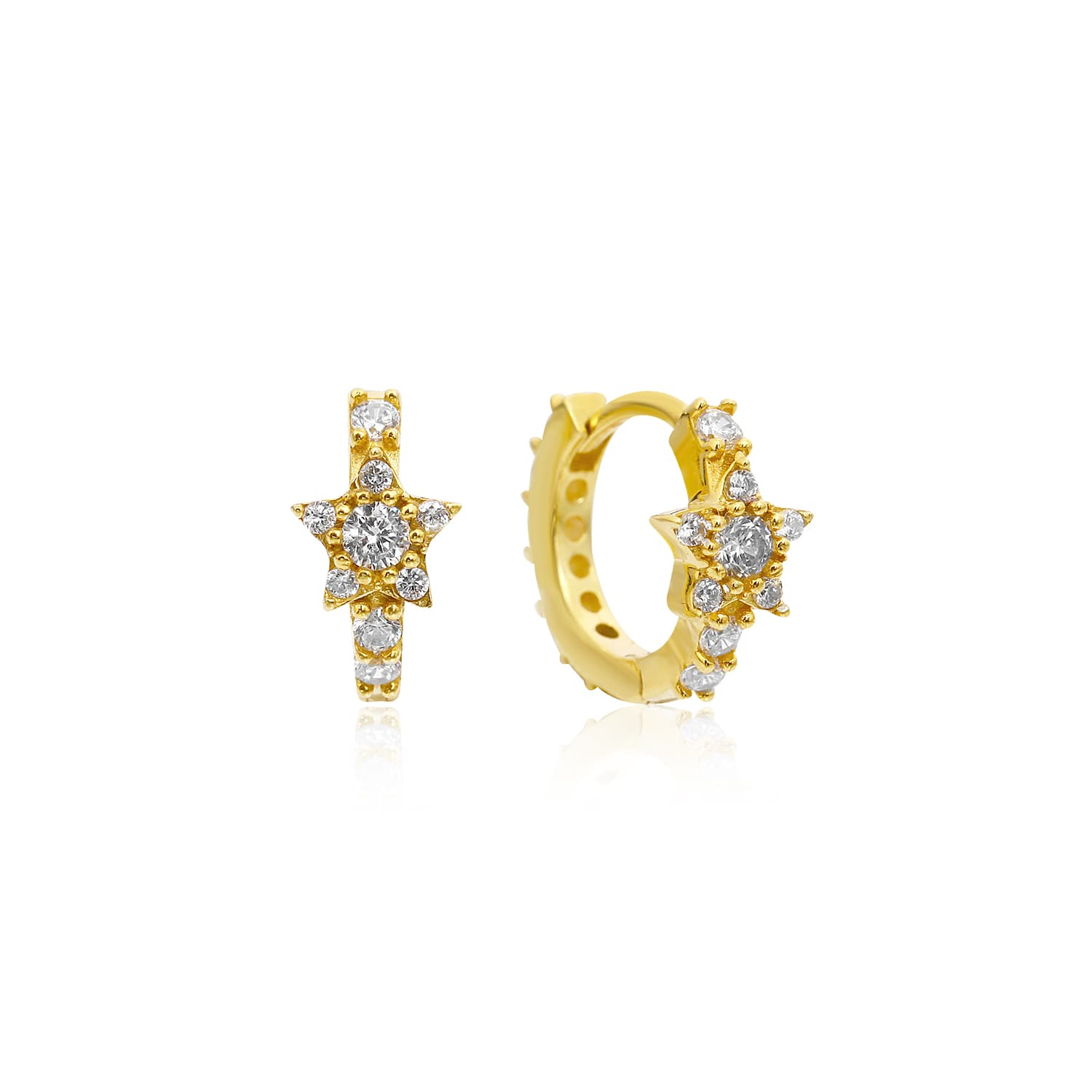 gold plated earrings
