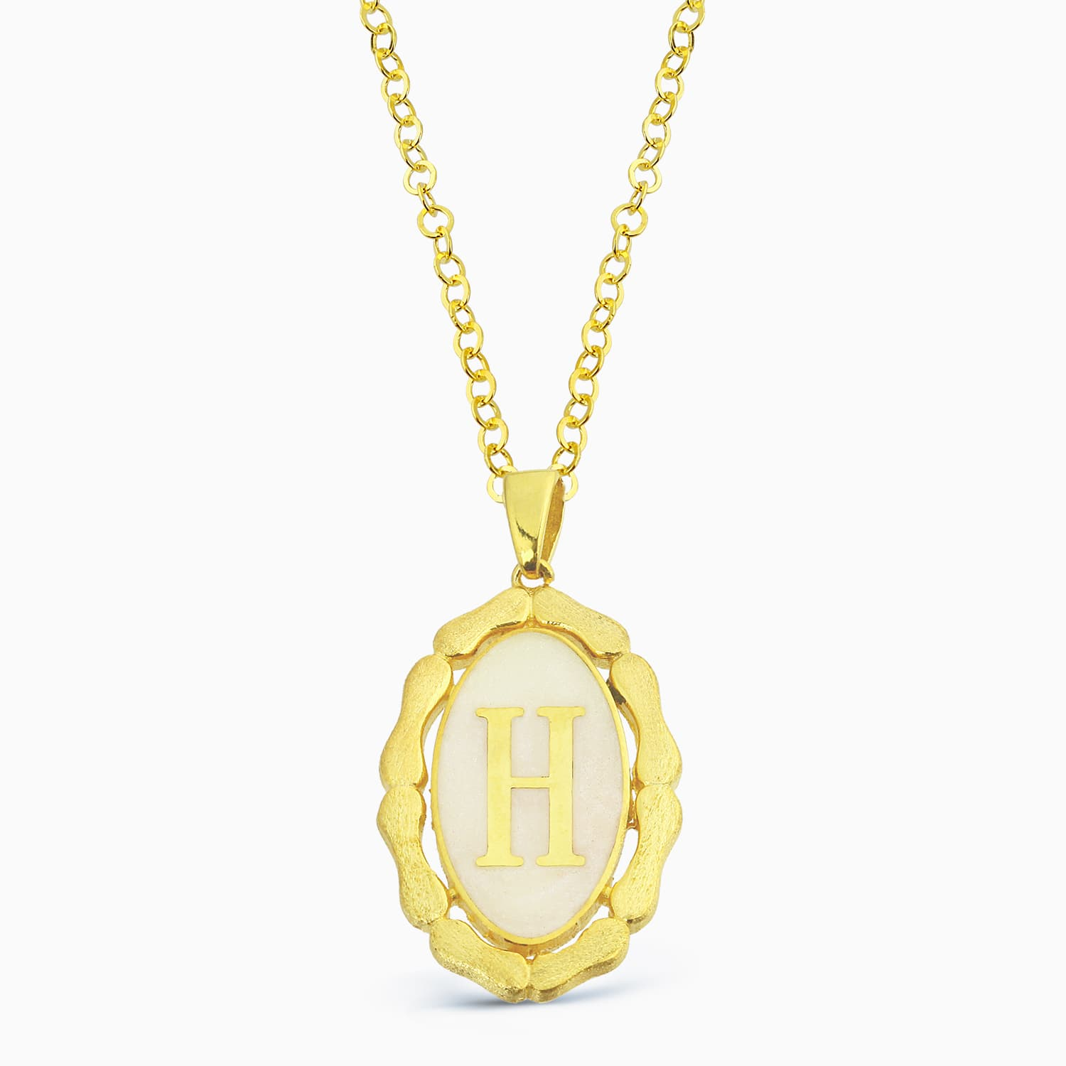 LETTER H MINNED NECKLACE
