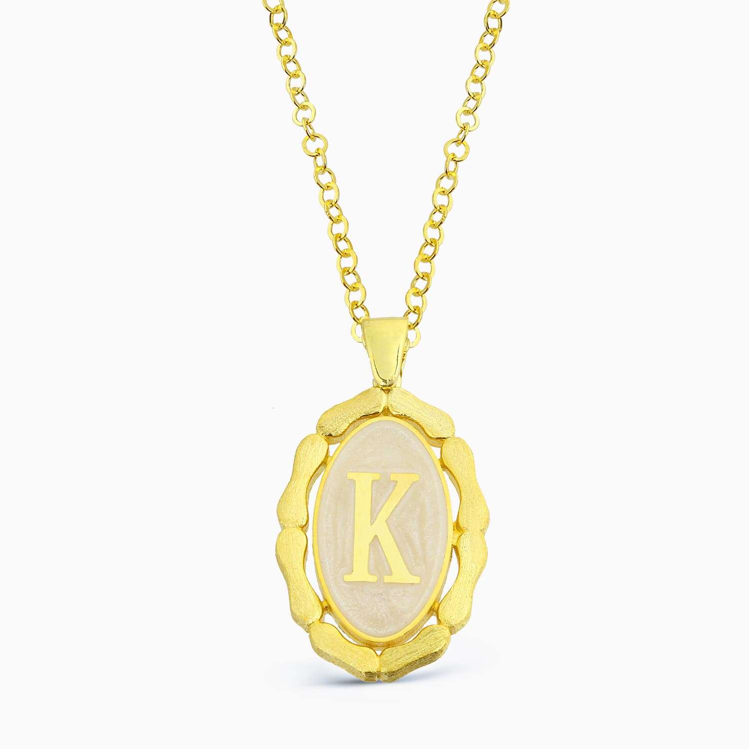 LETTER K MINNED NECKLACE