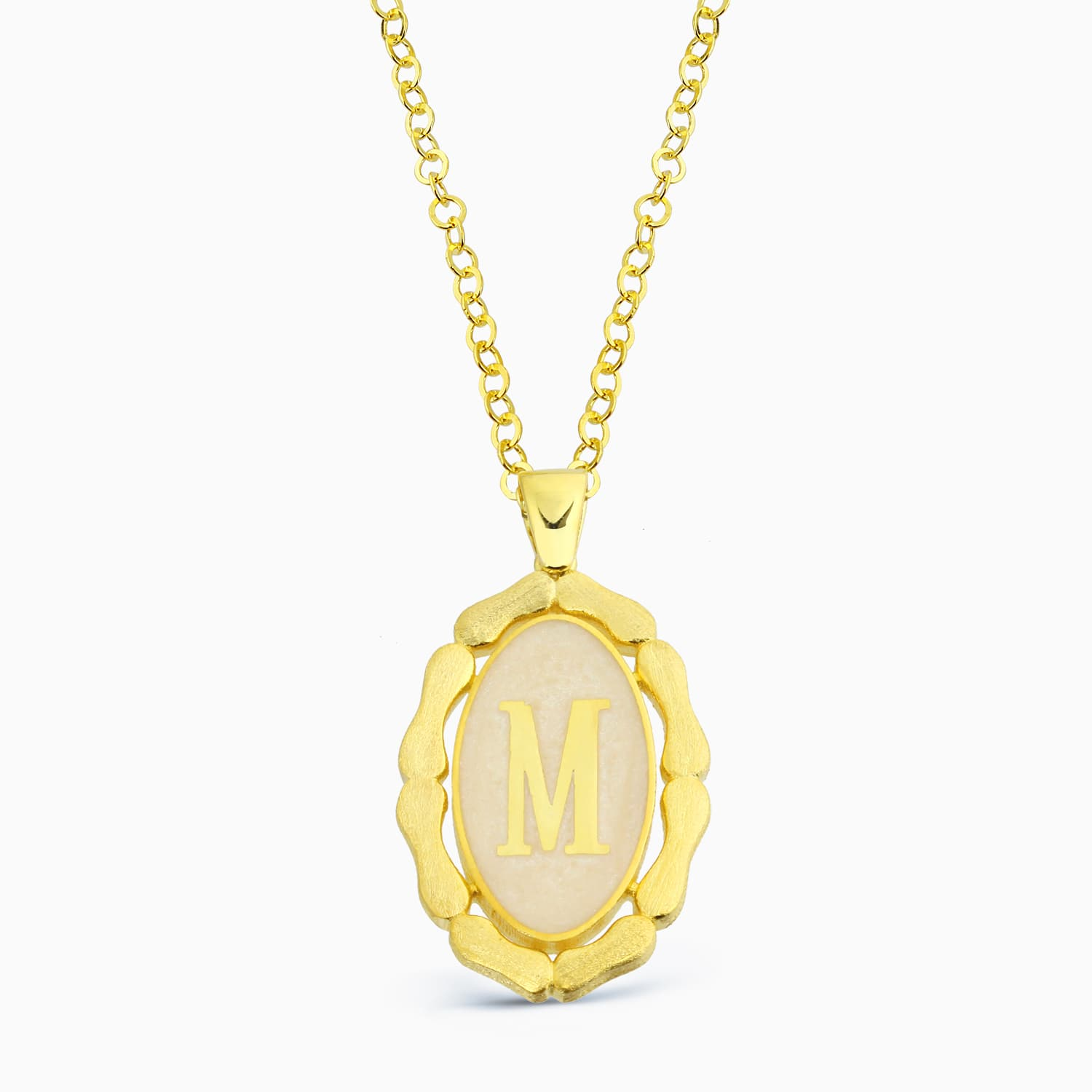 LETTER M MINNED NECKLACE