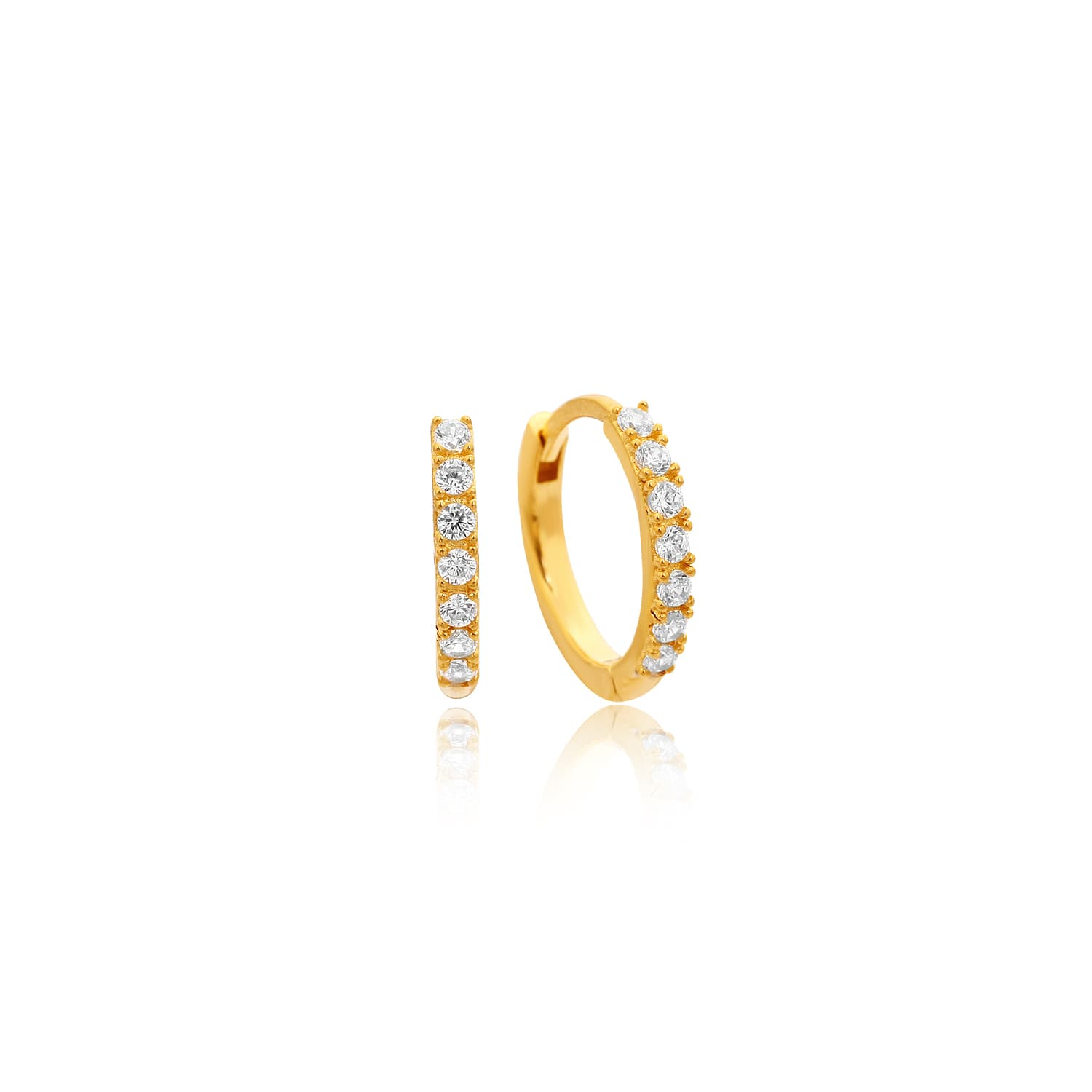 MINI RING EARRING ZIRCON