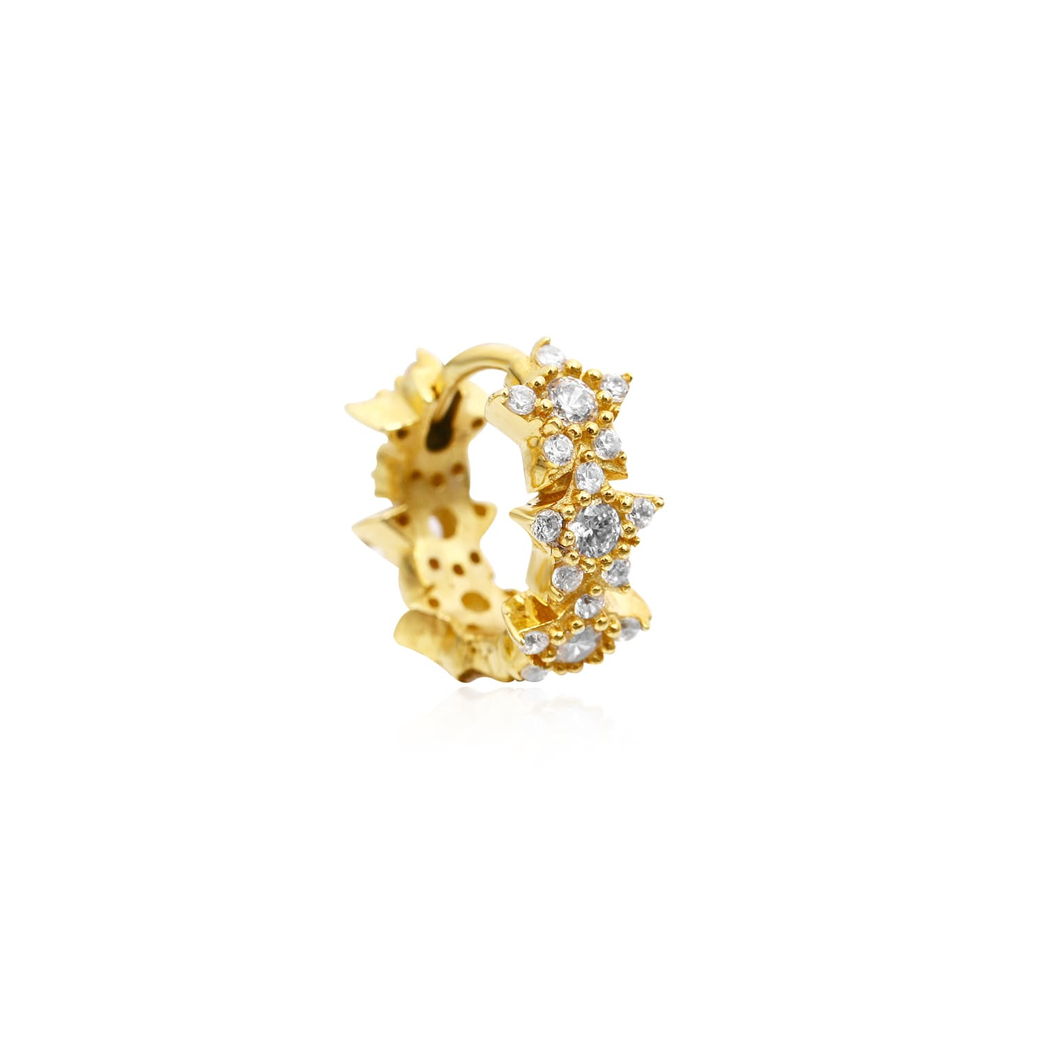 Gold plated silver stone earrings models