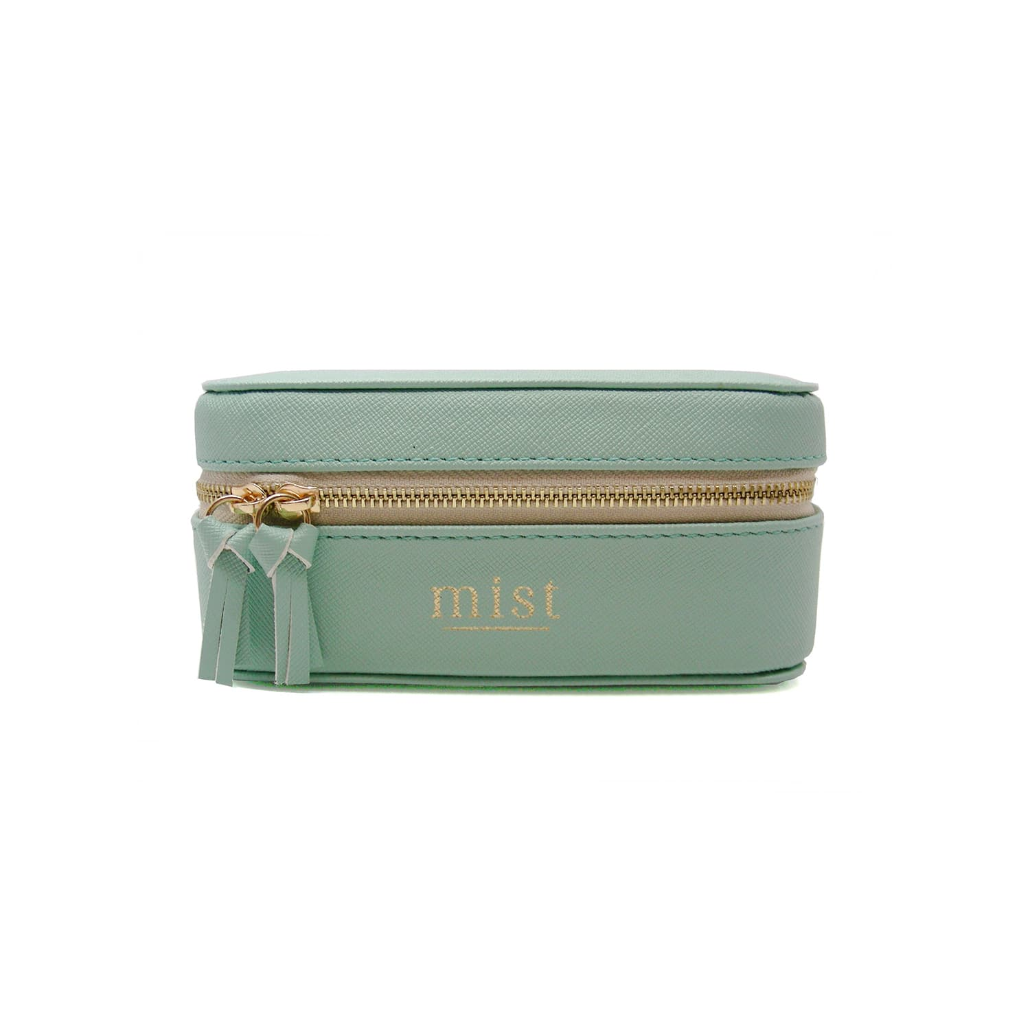 TRAVEL JEWELRY BAG MINT GREEN
