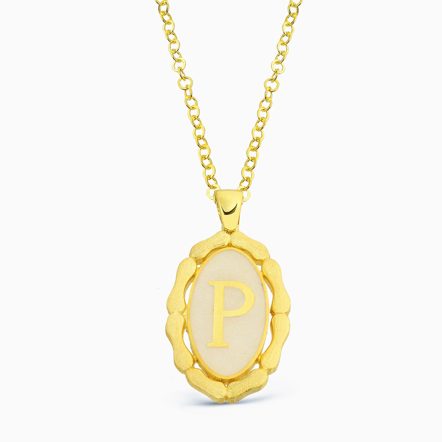 LETTER P MINNED NECKLACE